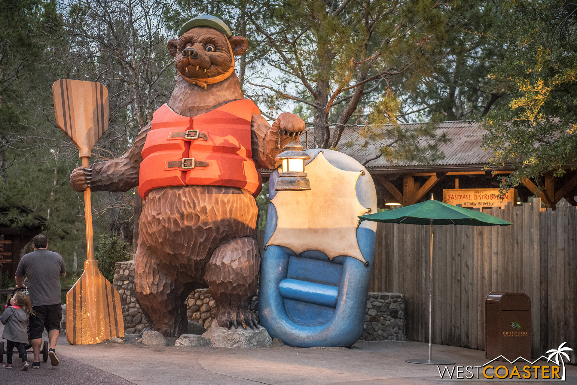 Meanwhile, the bear got a nifty, oranger life vest.