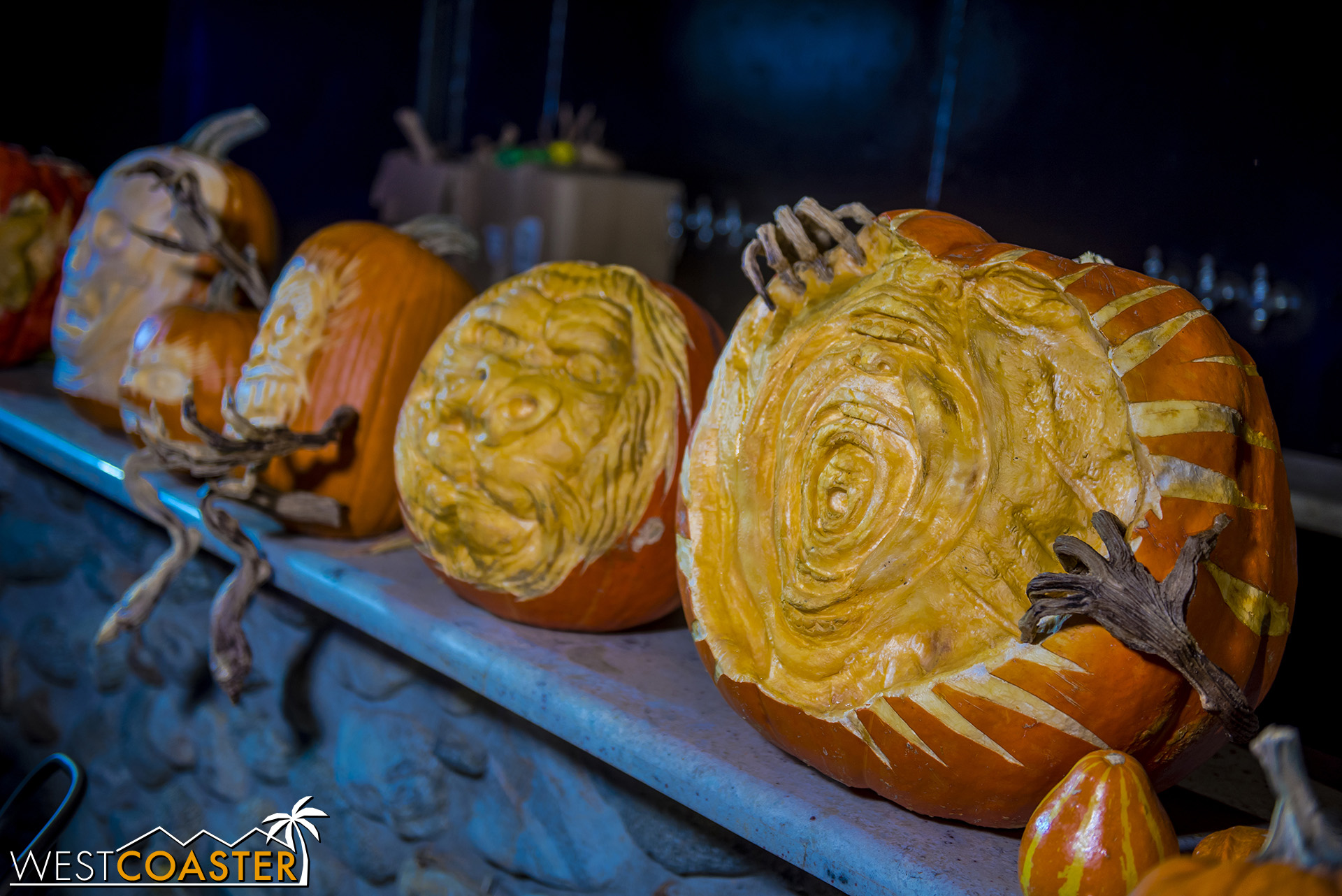 There was a pumpkin carver doing demonstrations, and he was pretty talented!