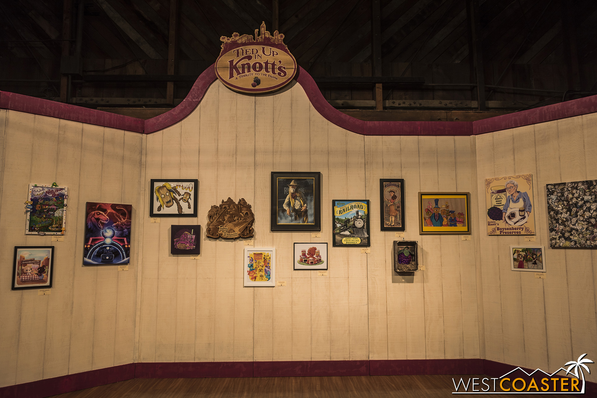 Here's a look at the Tied Up in Knott's art exhibit for this year's Boysenberry Festival.