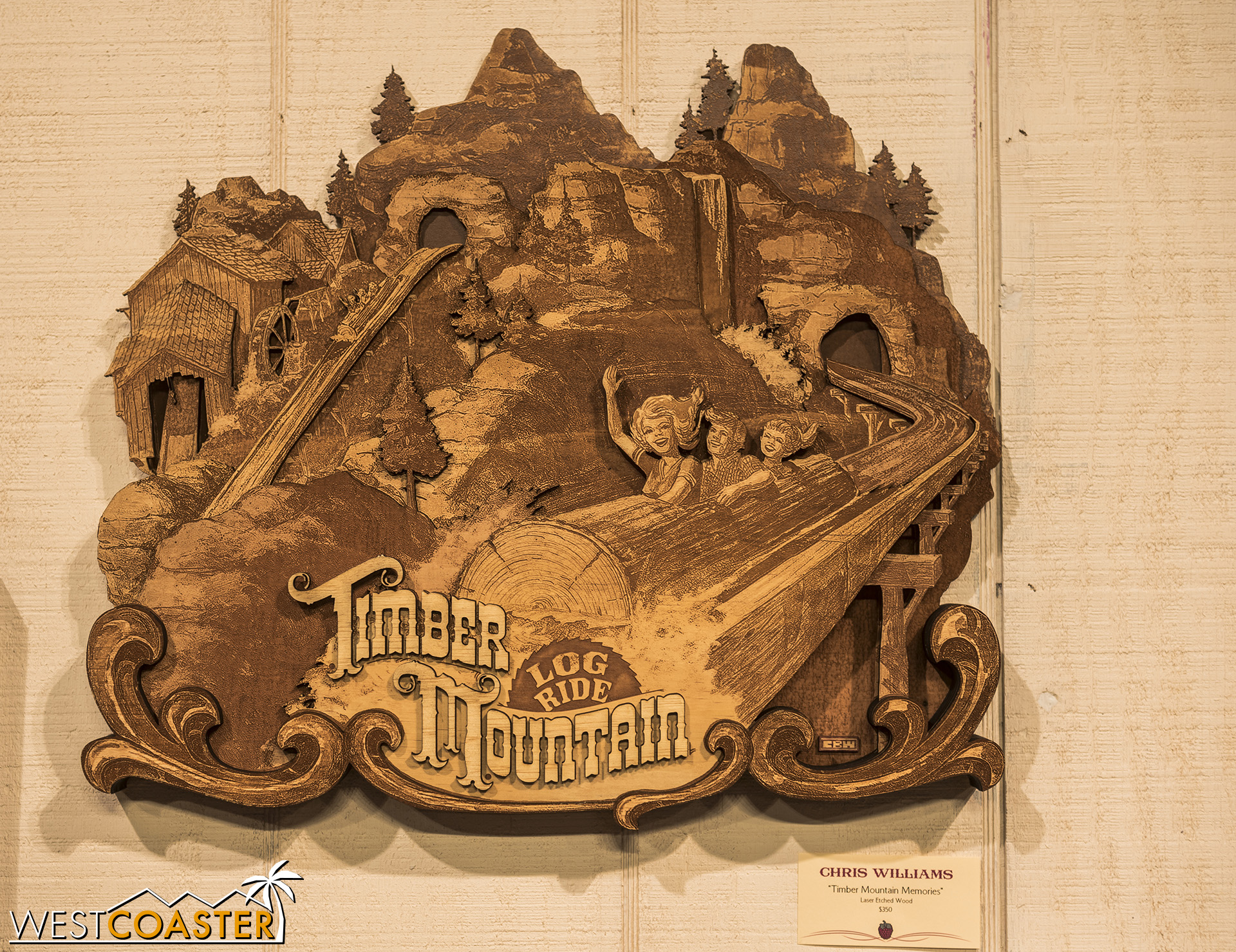 A woodcut of the Log Ride is certainly fitting.