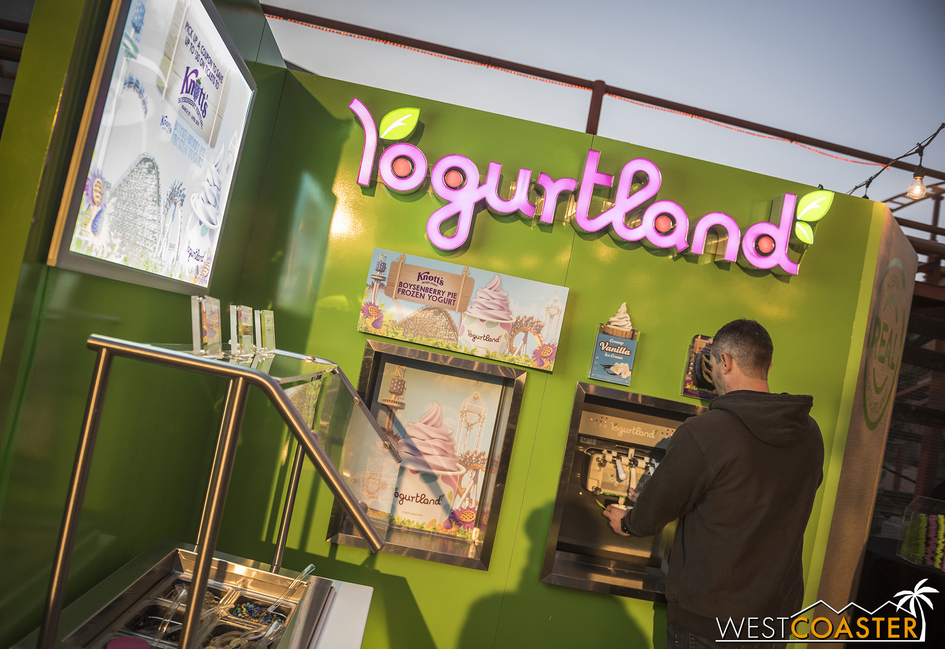 For this year, Yogurtland has partnered with Knott's to offer Boysenberry Frozen Yogurt! I thought it would be available at Knott's Only, but it will be sold at regular Yogurtland locations too!