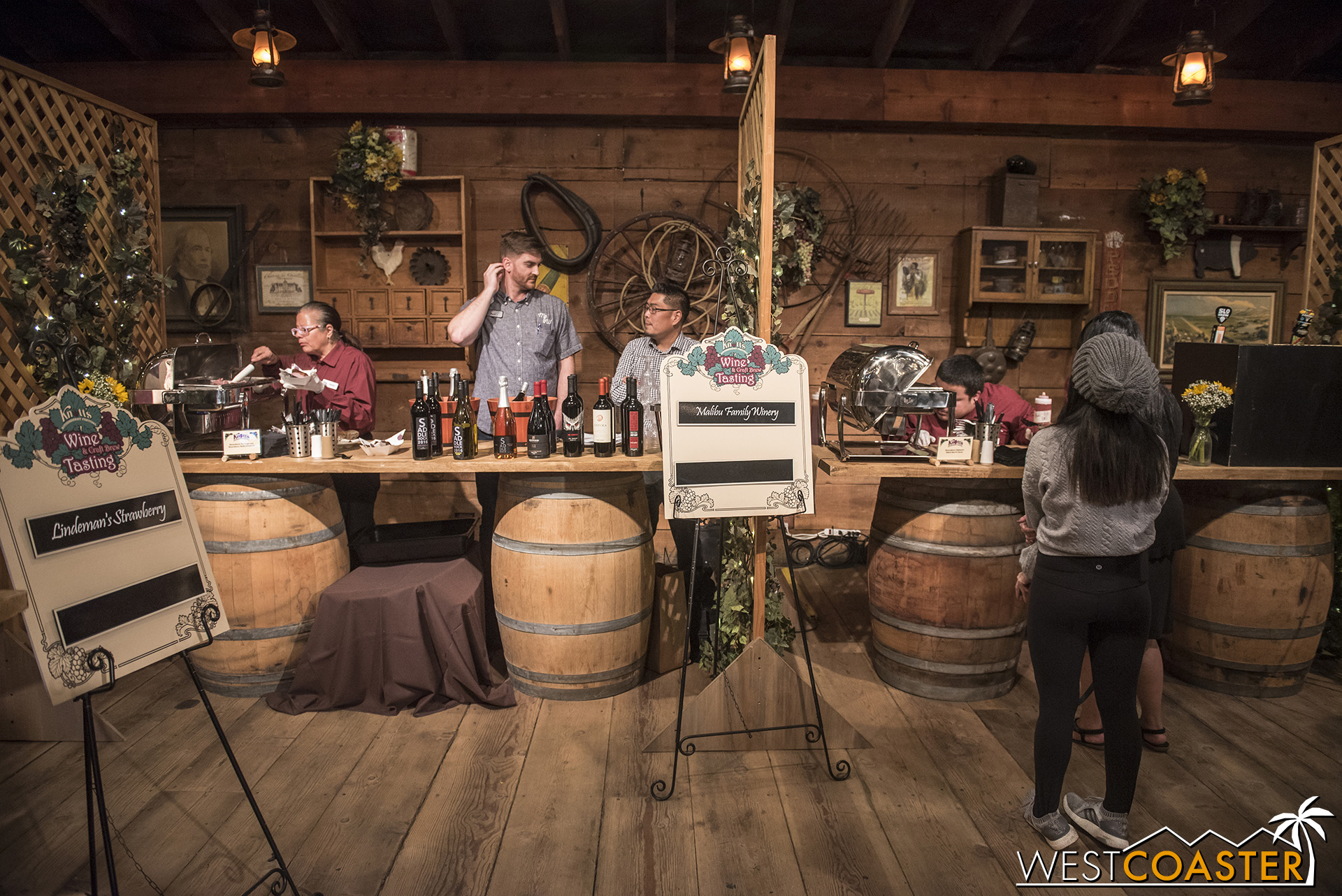 There will be once again a series of wine and beer booths inside the Wilderness Dance Hall for guests who purchase a tasting card.