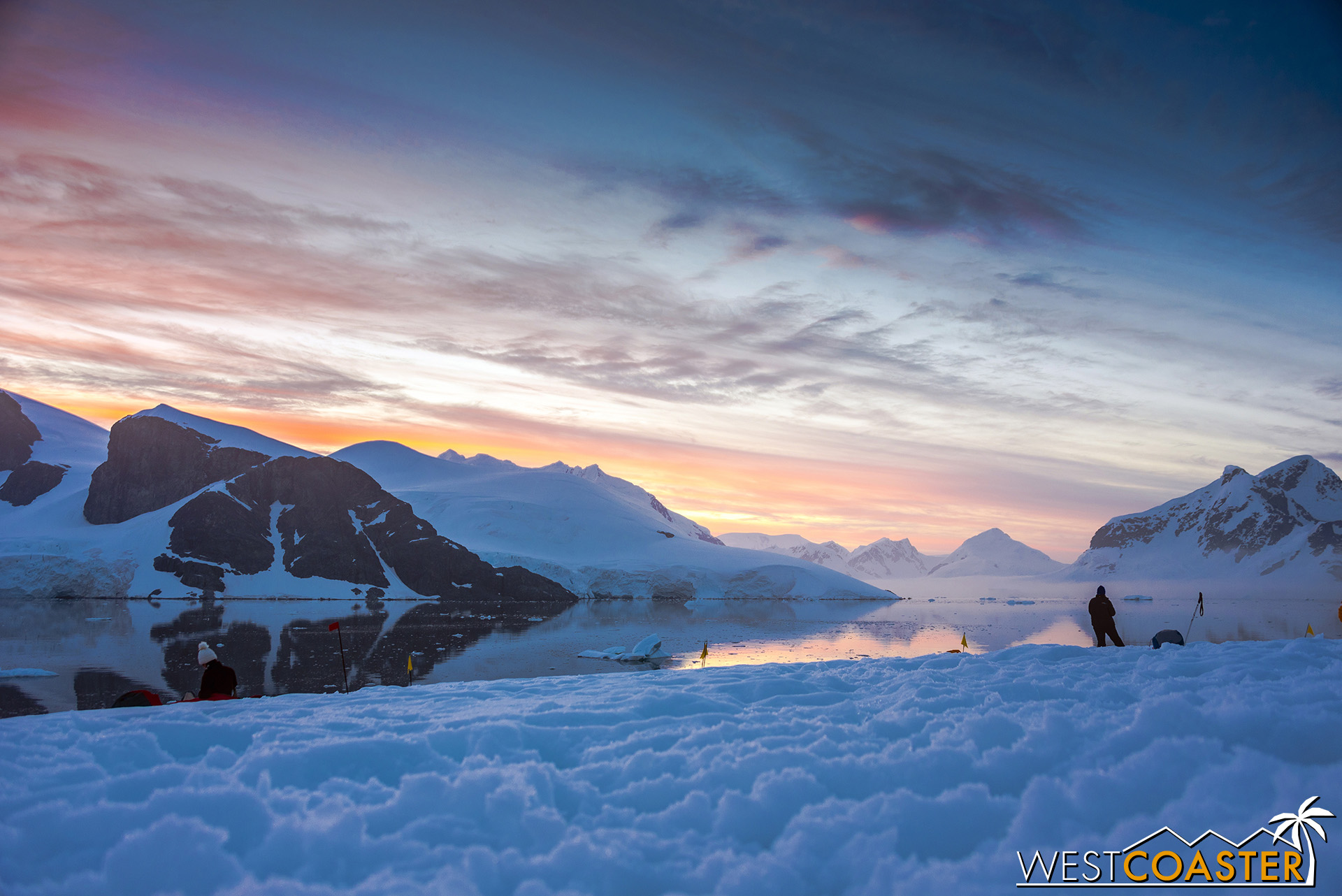 Post-sunset over our Antarctica camp-out.