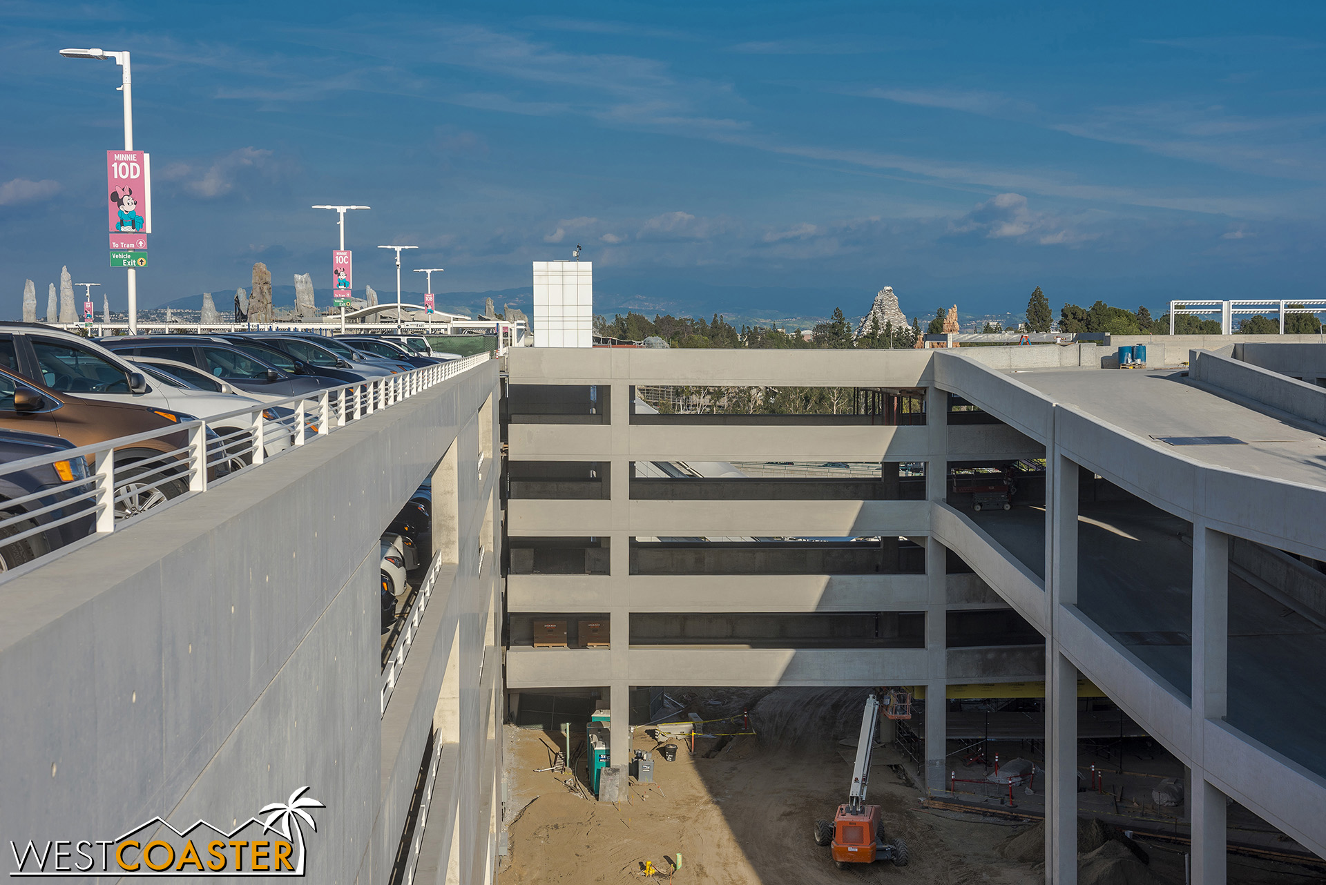 Another view at the bridge that will take vehicles back to the existing structure on the left.