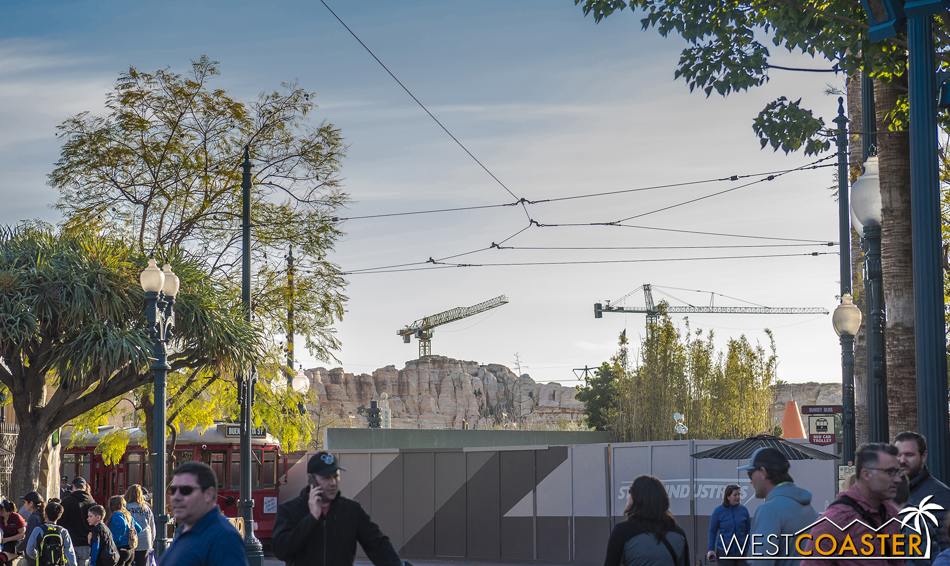 So I had every intention to get new angles of Marvel Land by going up the Pixar Pal-A-Round to photograph aerially.