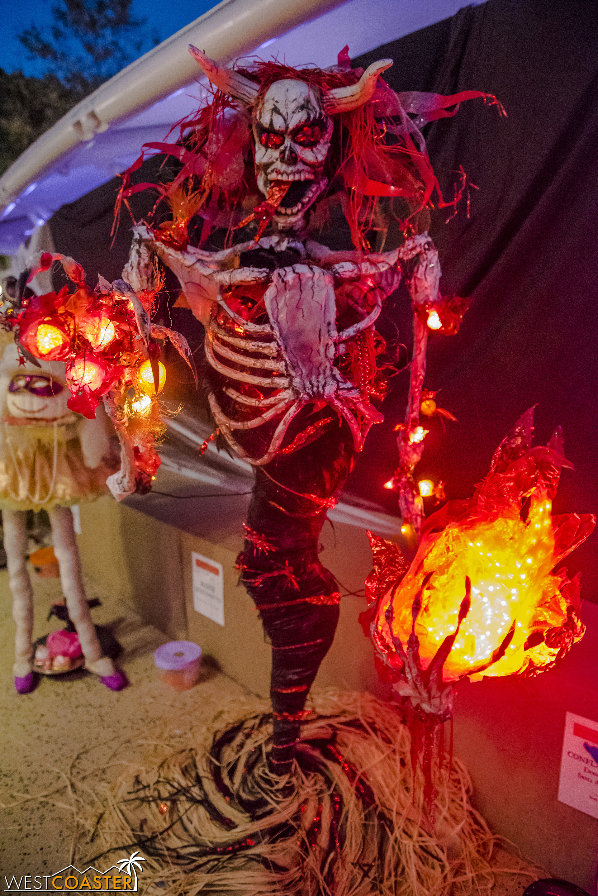 """The """"Conflagration—Demon of the Santa Ana Winds"""" scarecrow was my personal favorite and a very popular overall visitor favorite."""