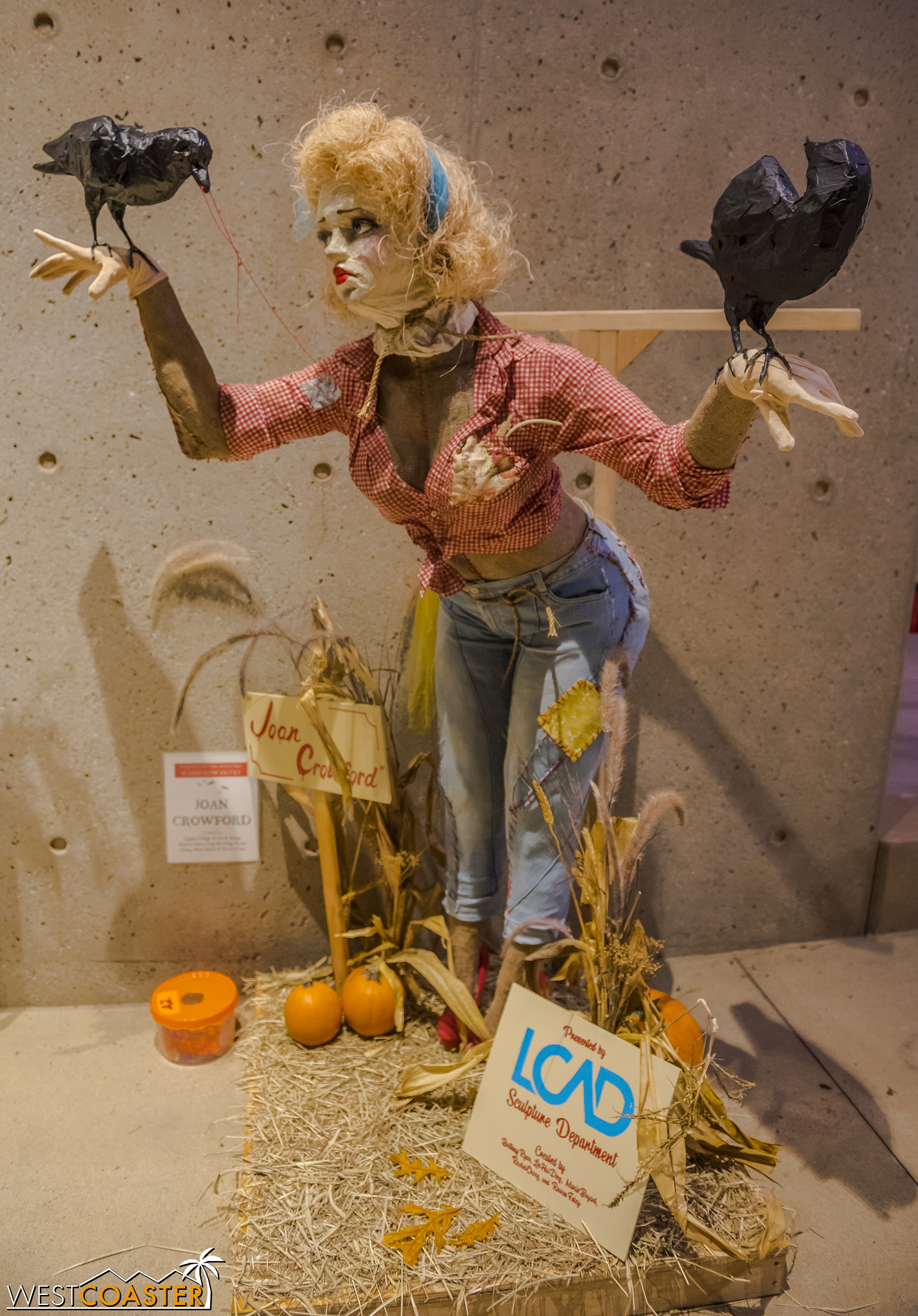 Joan Crowford struck me as a little disturbing, but I guess that's the point of a scarecrow!