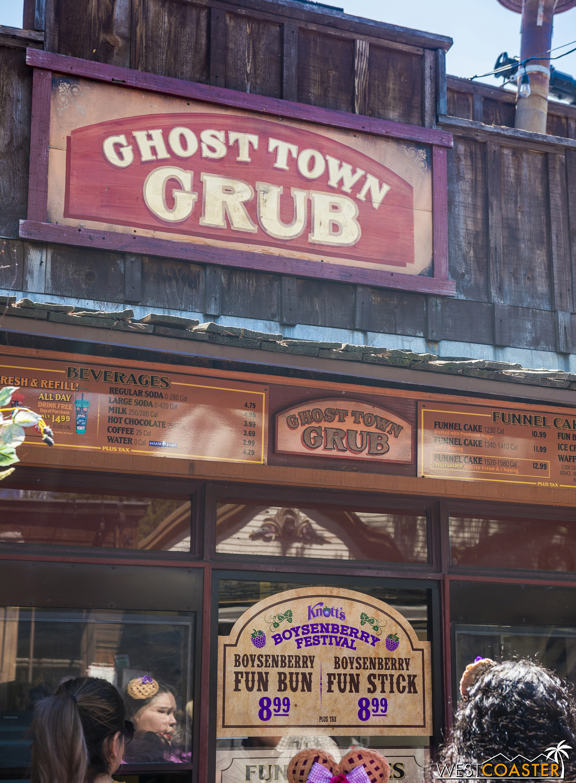 You can still get a Fun Bun or Fun Stick at Ghost Town Grub, beside's Goldie's Place.