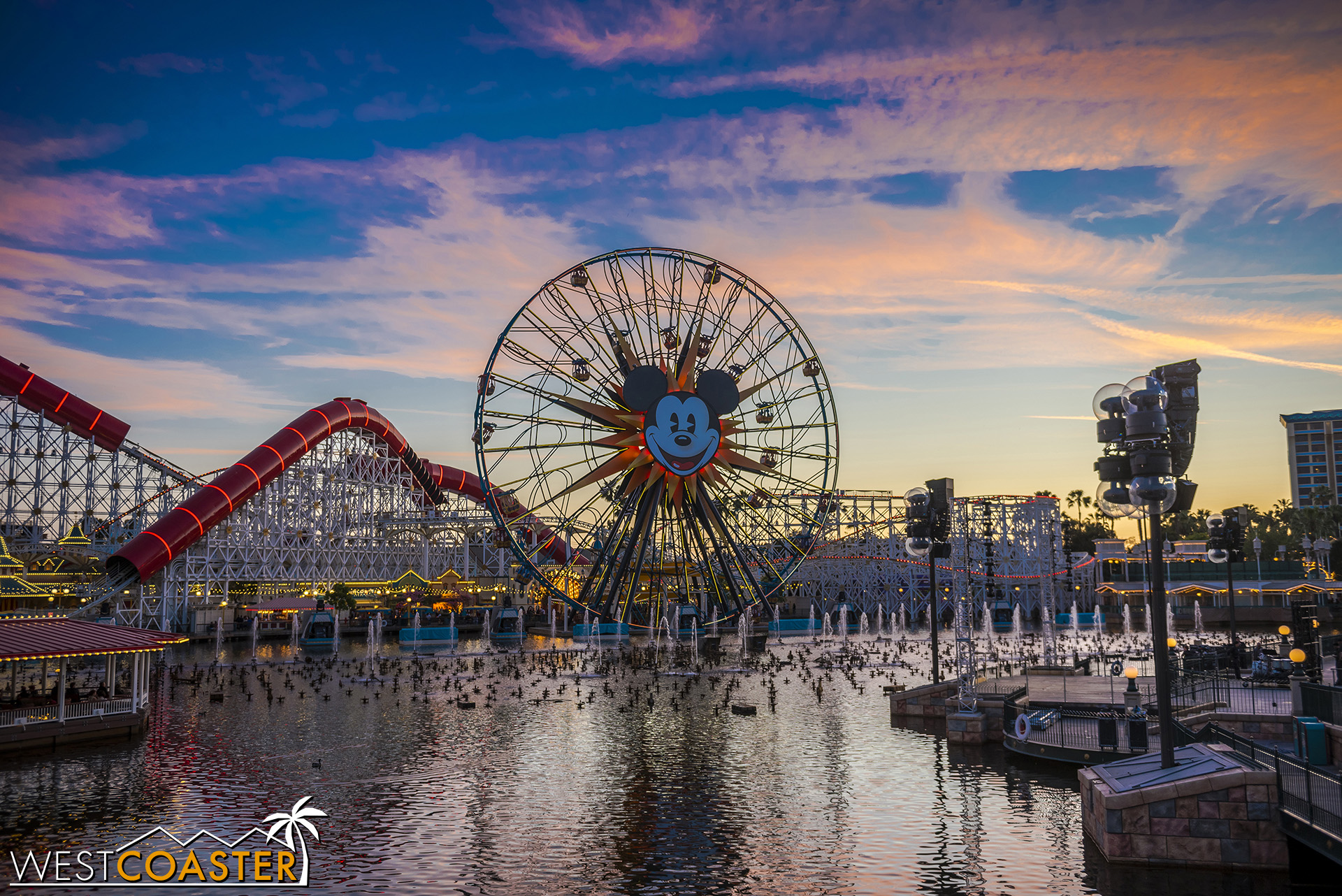 Nice sunset and the world as a Carousel of Color.