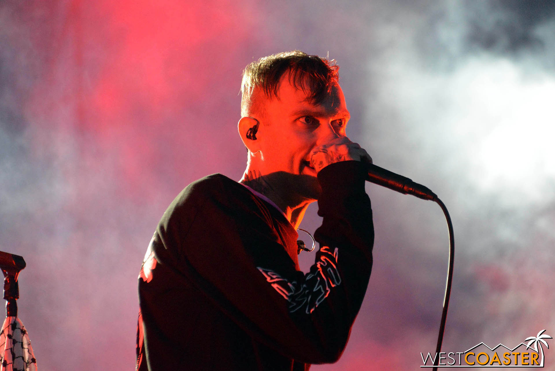 The Used's Bert McCracken at Back to the Beach.