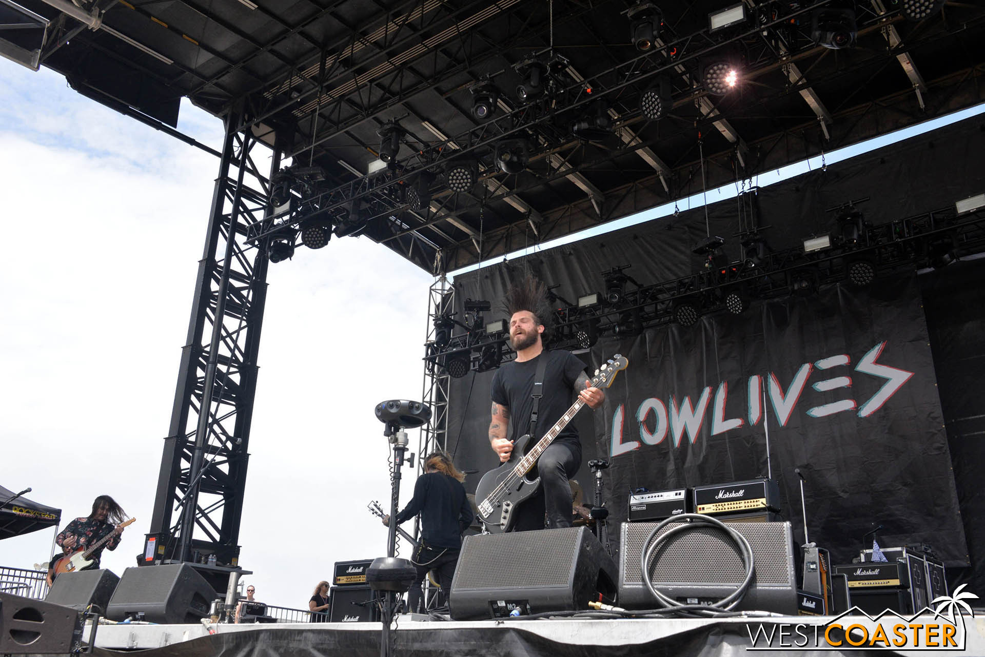 Lowlives perform at Back to the Beach festival..