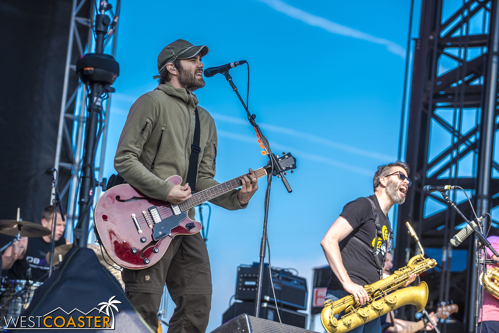 The Streetlight Manifesto performs at Back to the Beach.