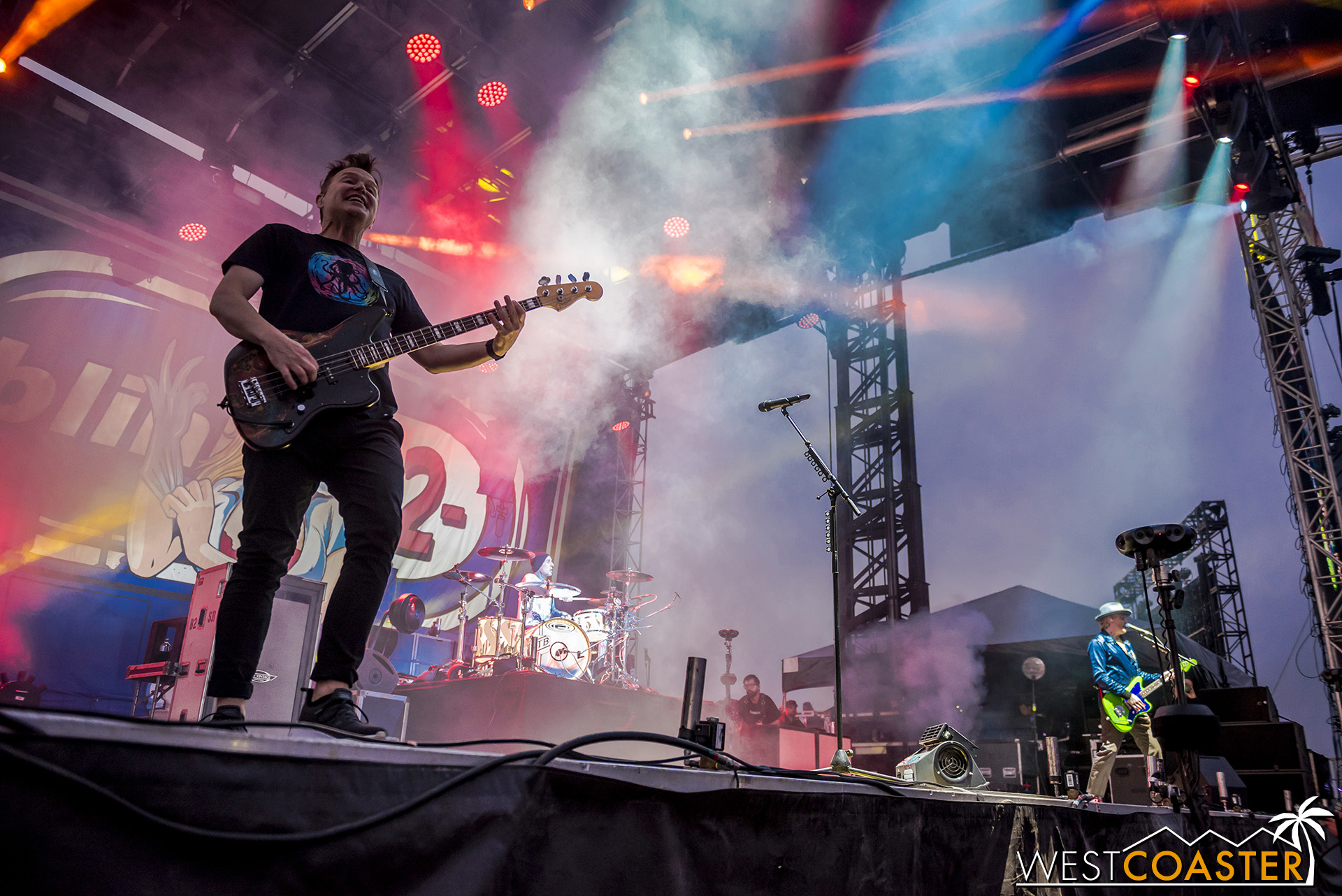 Headliners blink-182 play  Enema of the State  front to back at Back to the Beach.