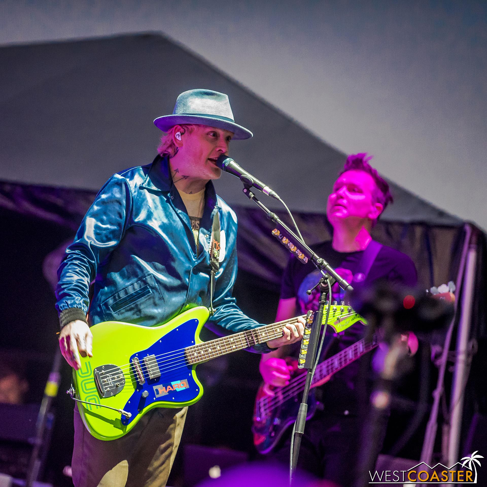 Matt Skiba and his lime green guitar.