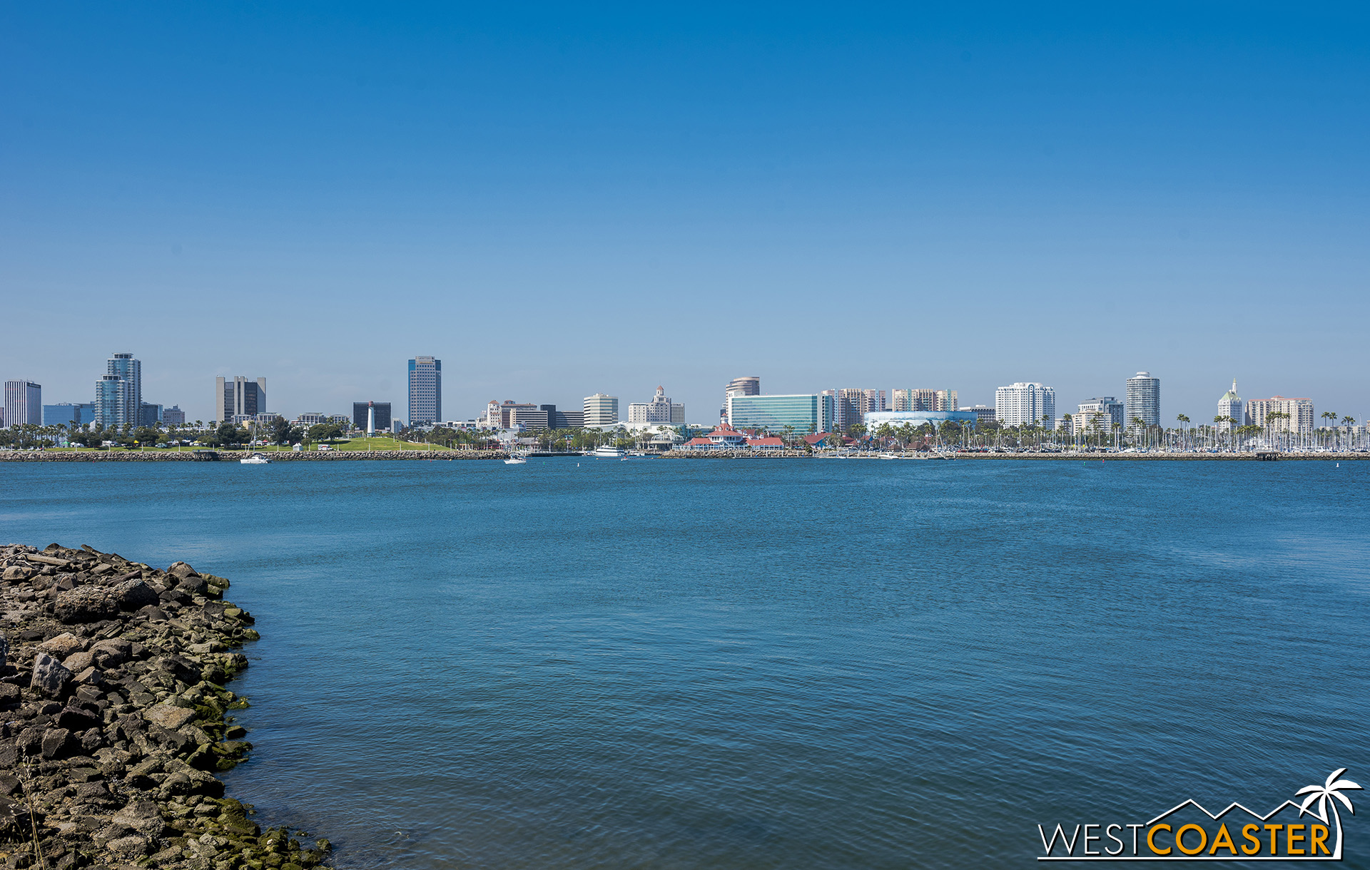 A beautiful panorama of downtown Long Beach from the festival grounds.