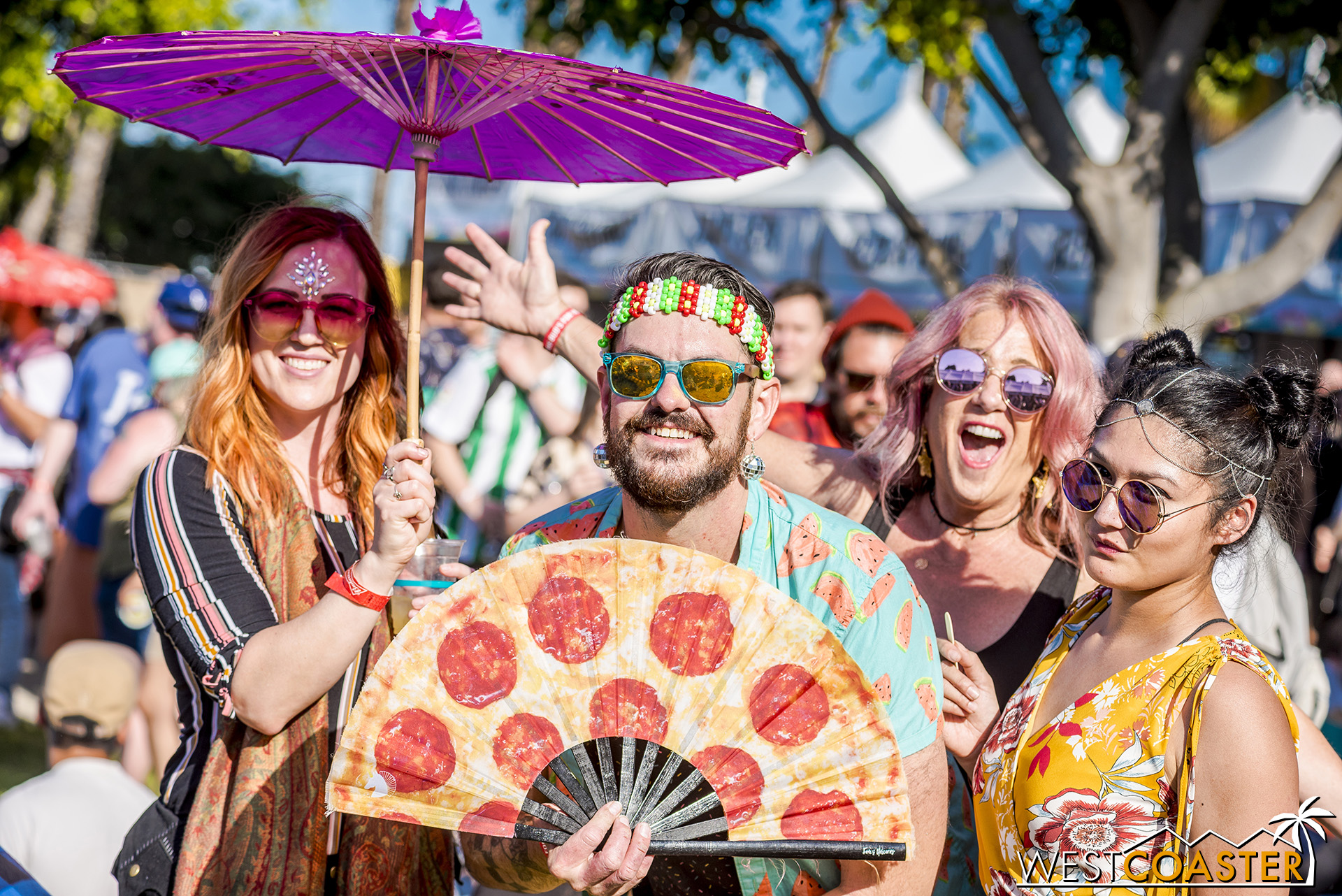 As close to a Coachella group as I could find… love the pizza fan.