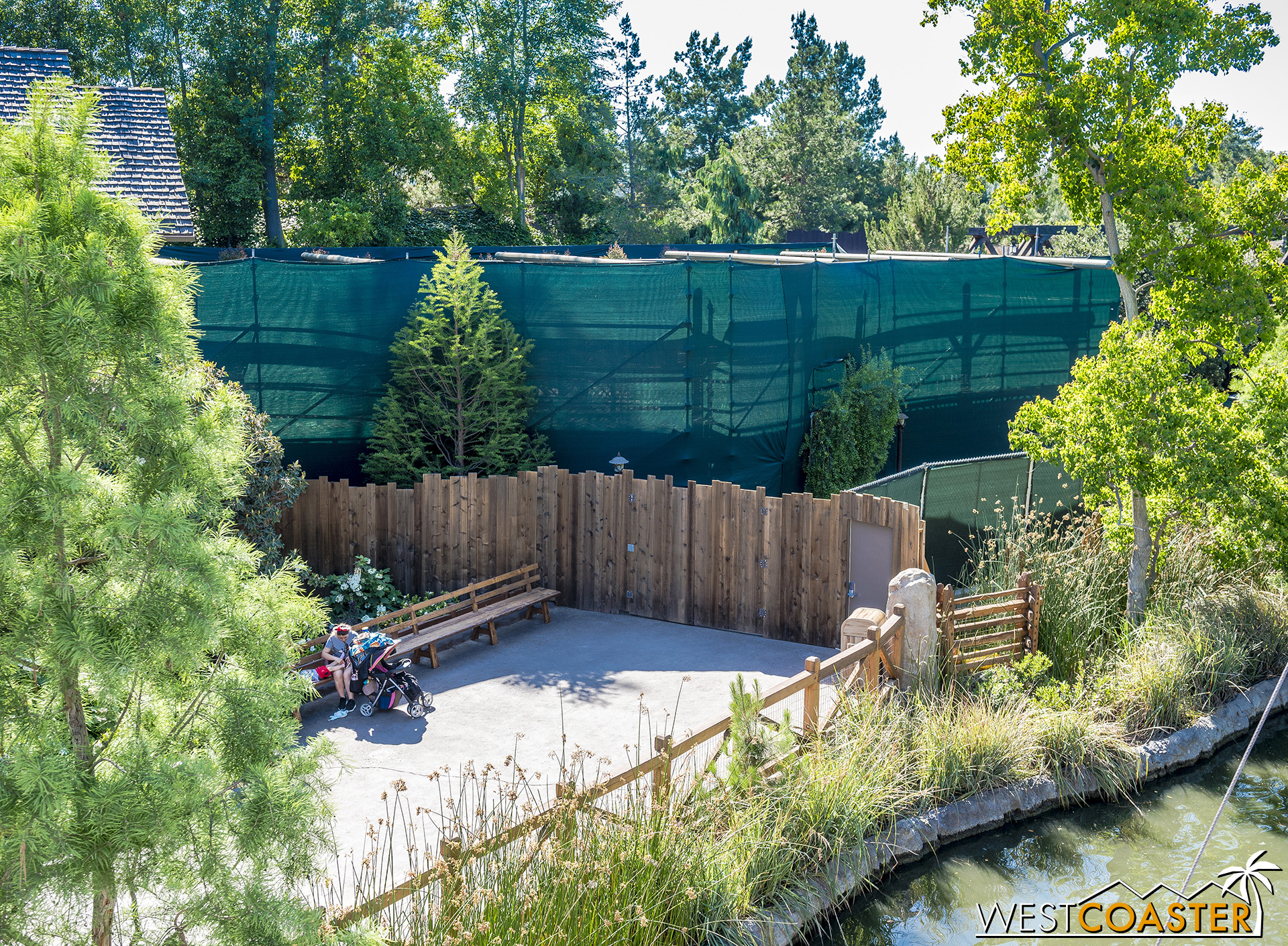 From inside the park, the Critter Country entrance has been moved back a bit.