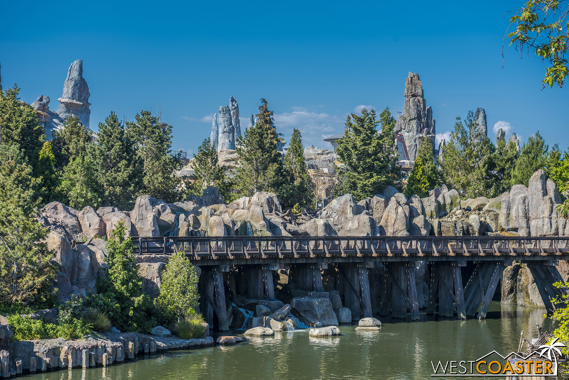 But the spires of Batuu look great from the Rivers of America!