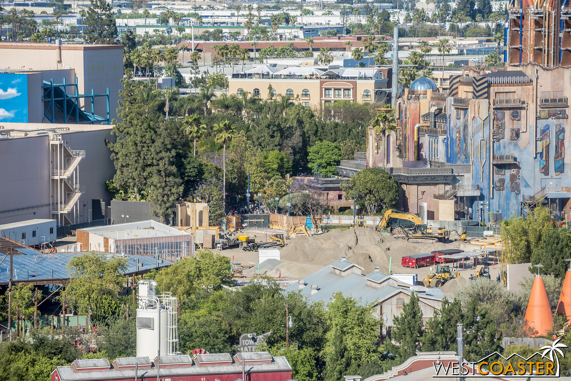And either a new building put up or I think the remnants of the Bug's Land toilet building (tough to gauge exactly based on perspective).