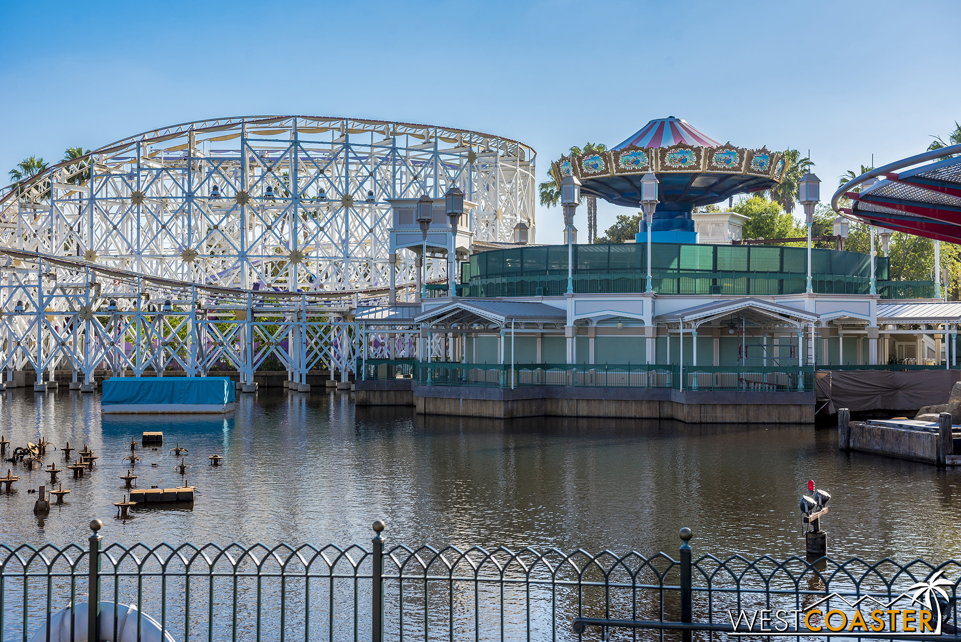 Meanwhile, the Silly Symphony Swings are nearing recompletion.