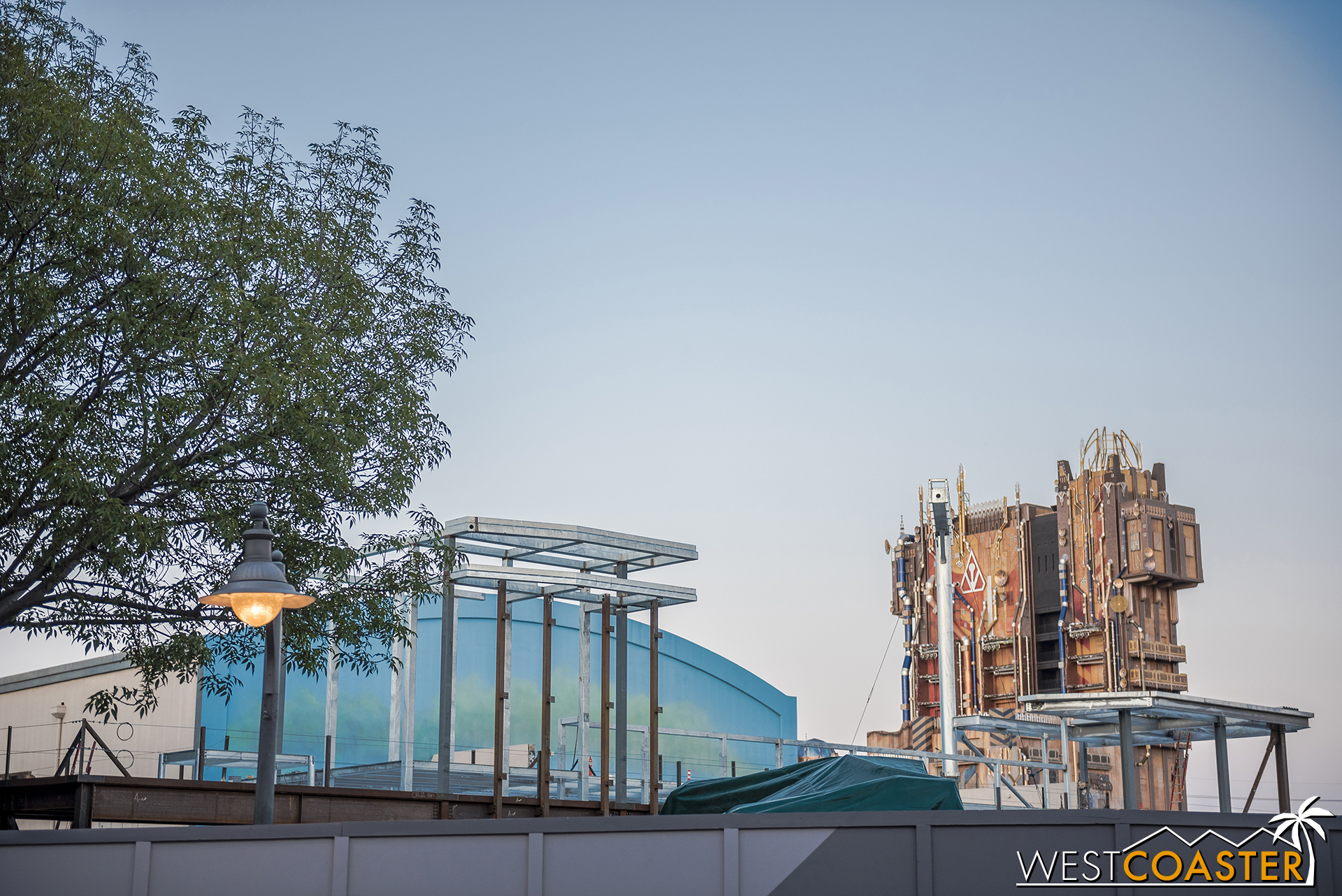 It's no longer a challenge to see Marvel Land construction progress over the work walls.