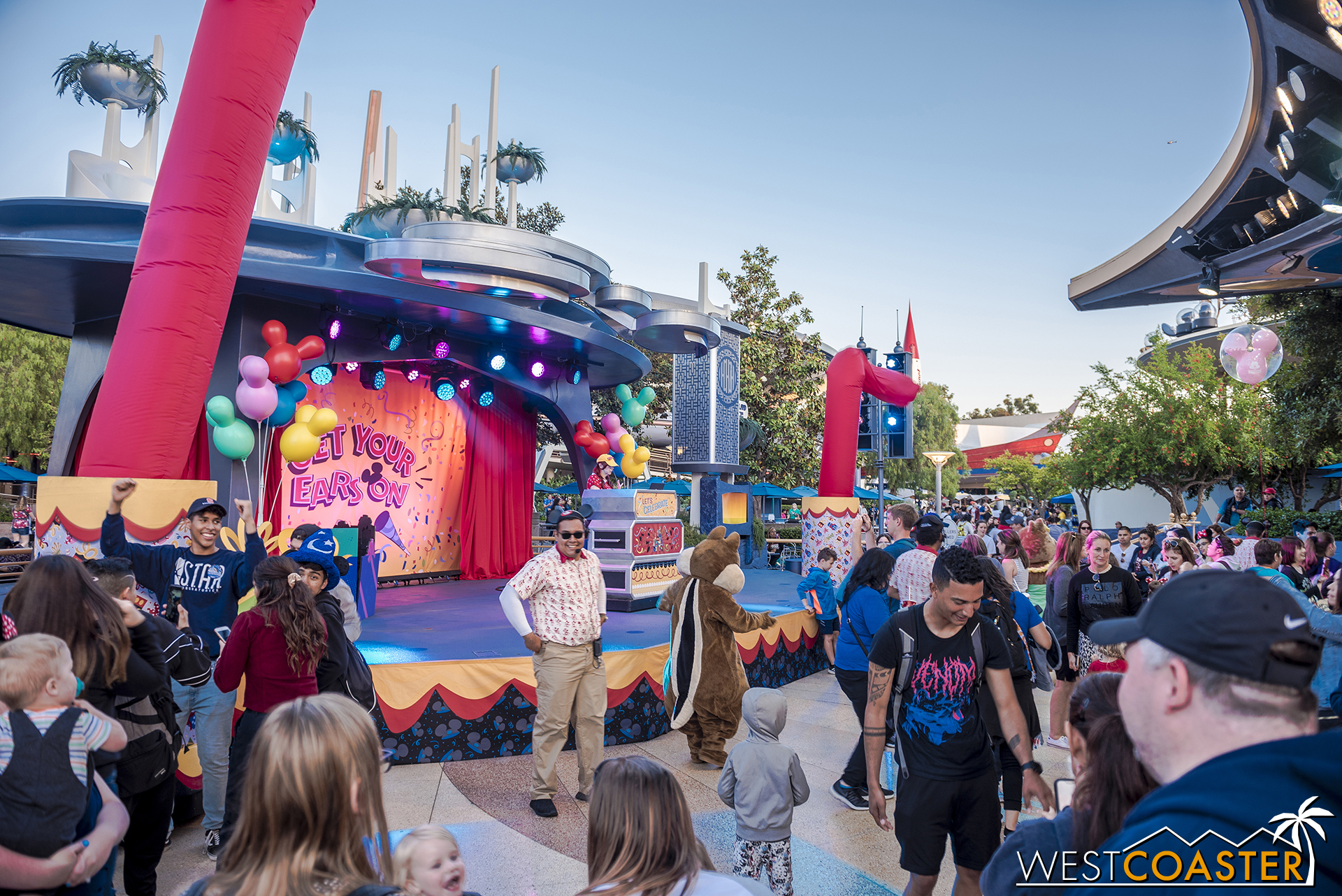 Dance party at Tomorrowland Terrace.
