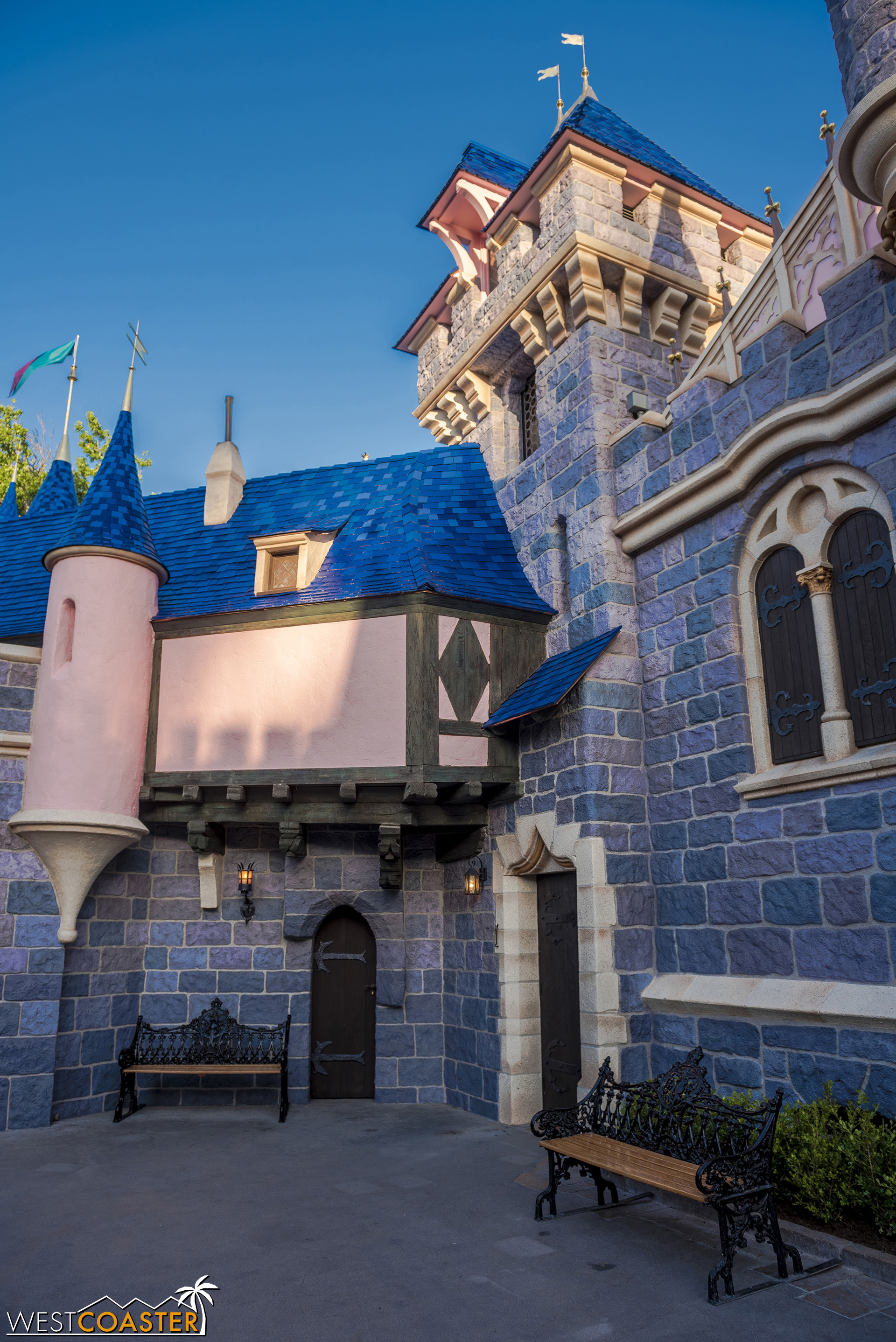 On the other side, toward Snow White's Wishing Well.