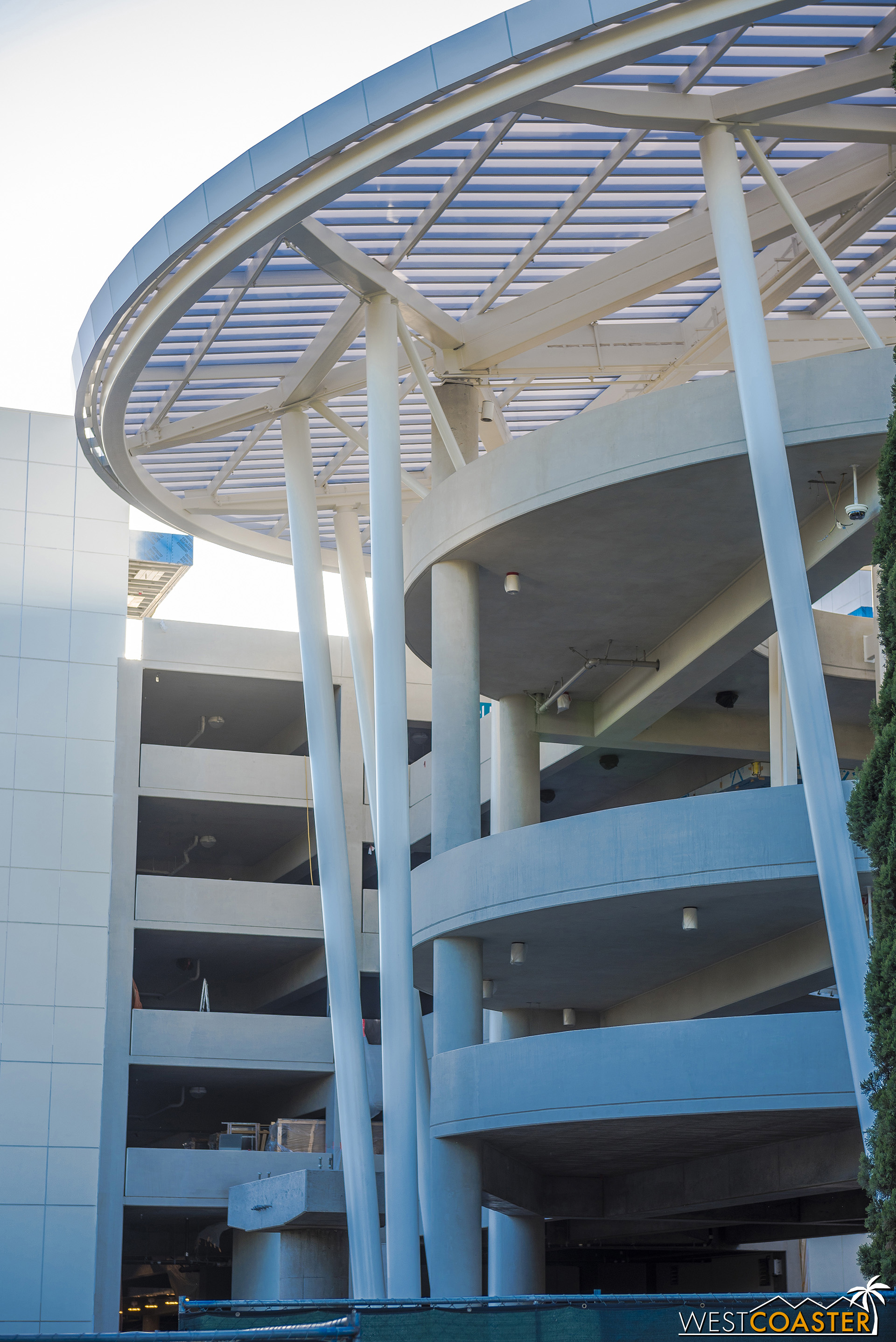 There's a column up on the parking structure side too.