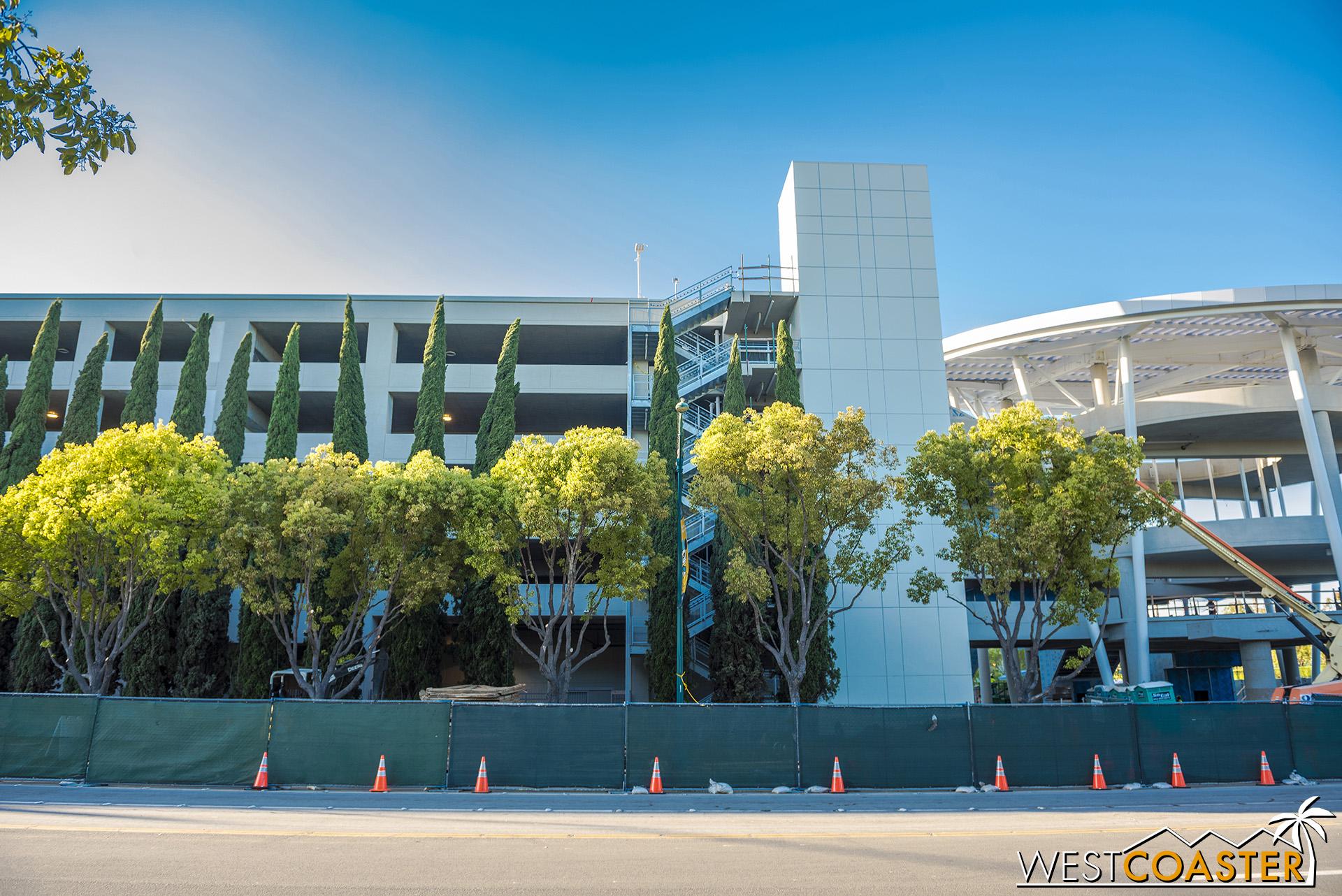 Moving along the south facade of Pixar Pals.