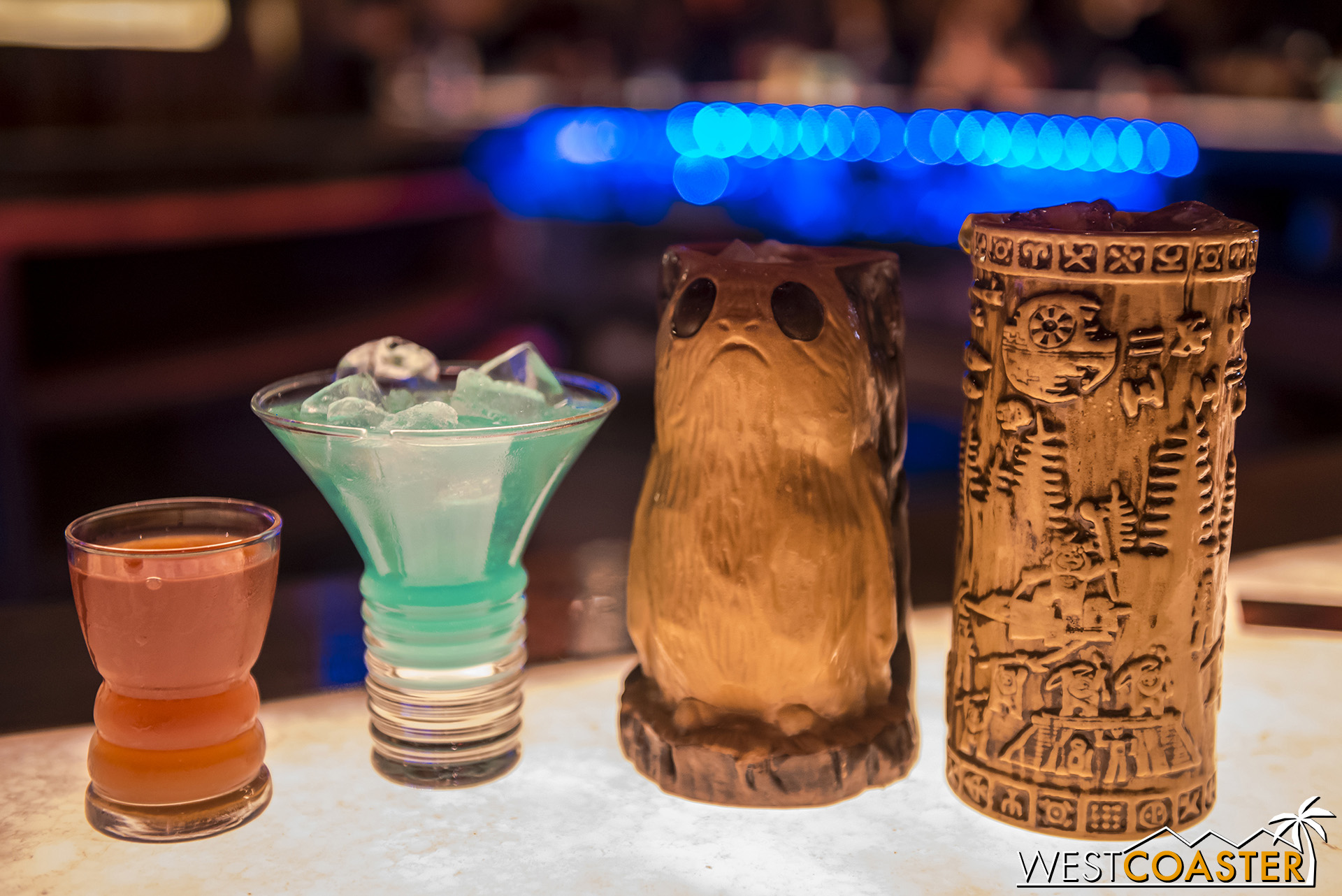 Drinks at Oga's Cantina are pricey, but the souvenirs are pretty cute and nice.