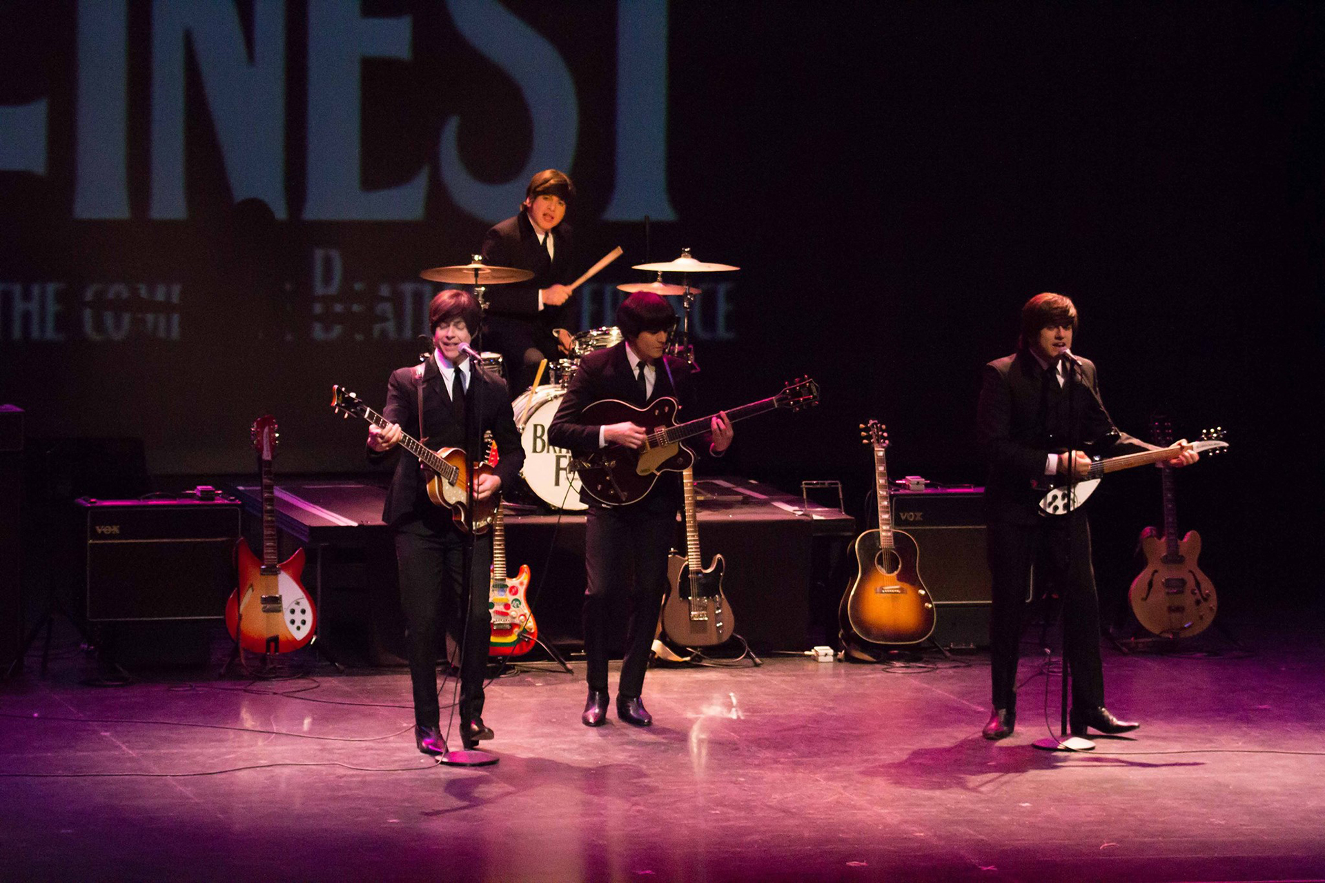 Britain's Finest, a Beatles cover band. (Photo courtesy of the Queen Mary.)