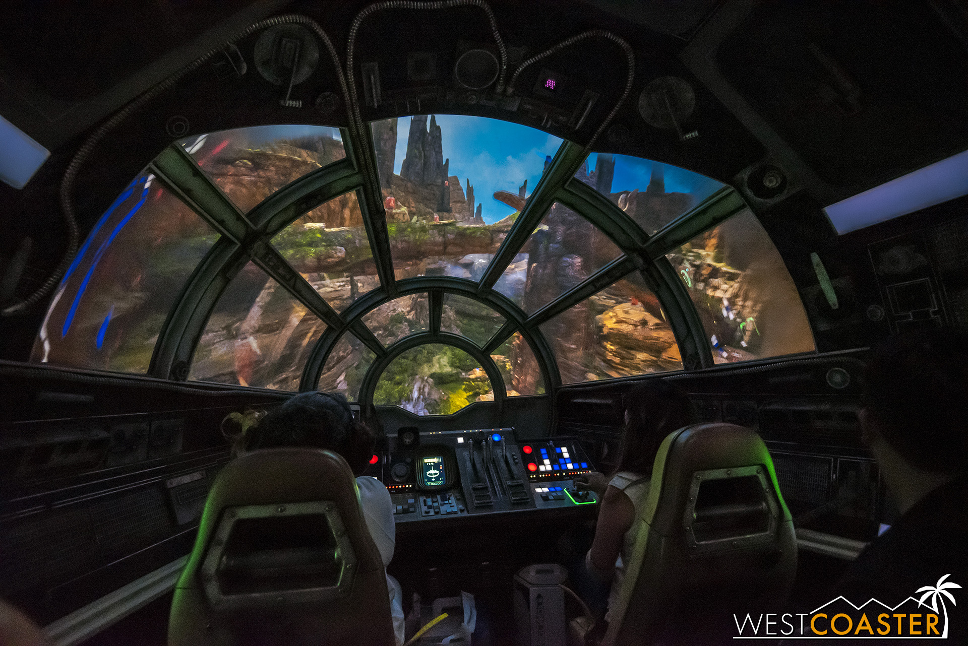 Piloting around the geology of Batuu.