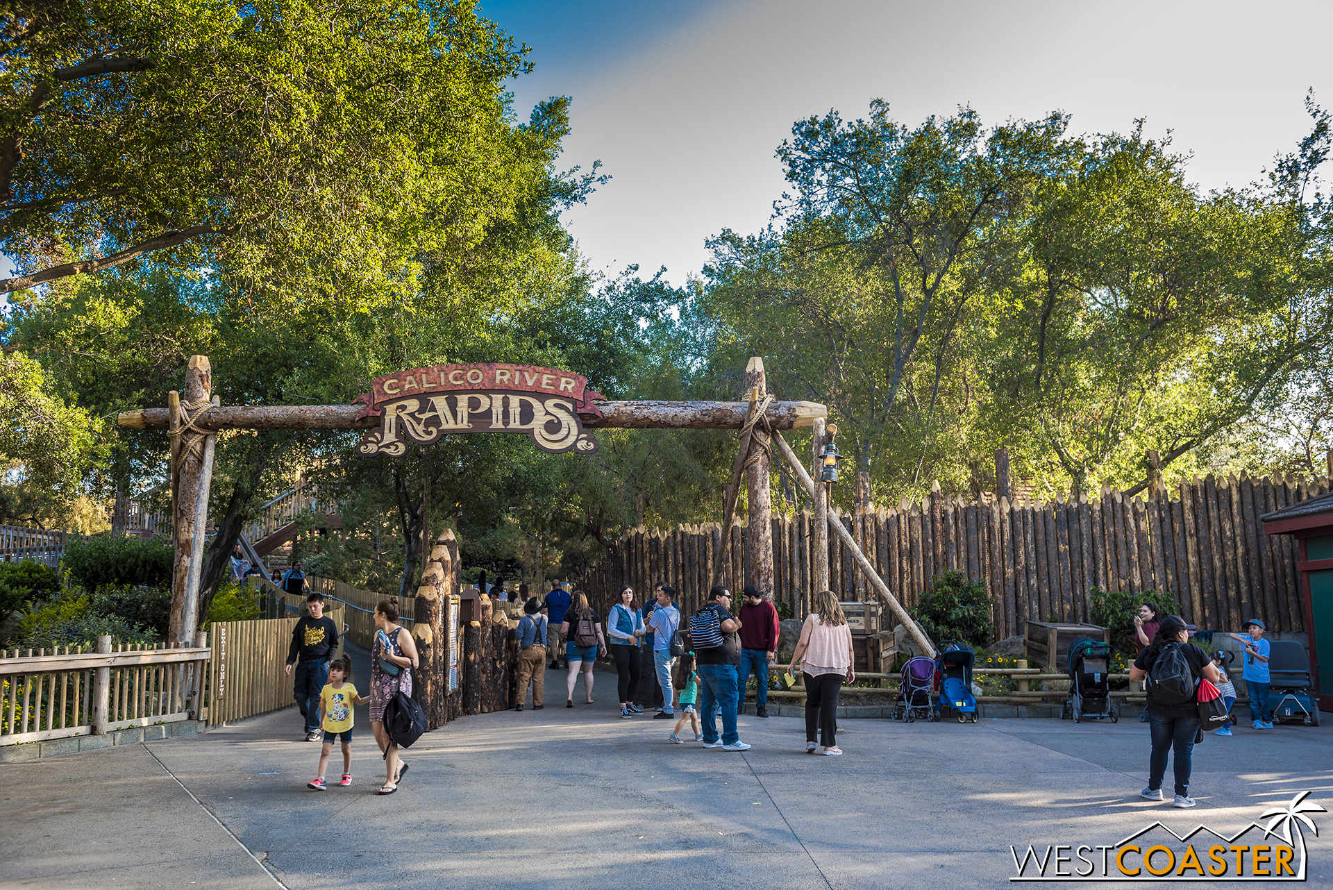 Welcome to Calico River Rapids!  An outpost at the edge of Ghost Town's city limits.