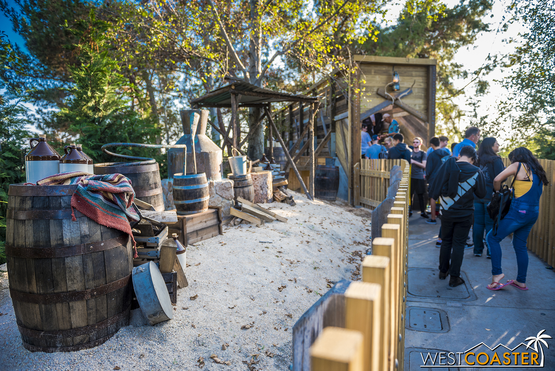 The park has added a redone bridge and some encampment theming as well.