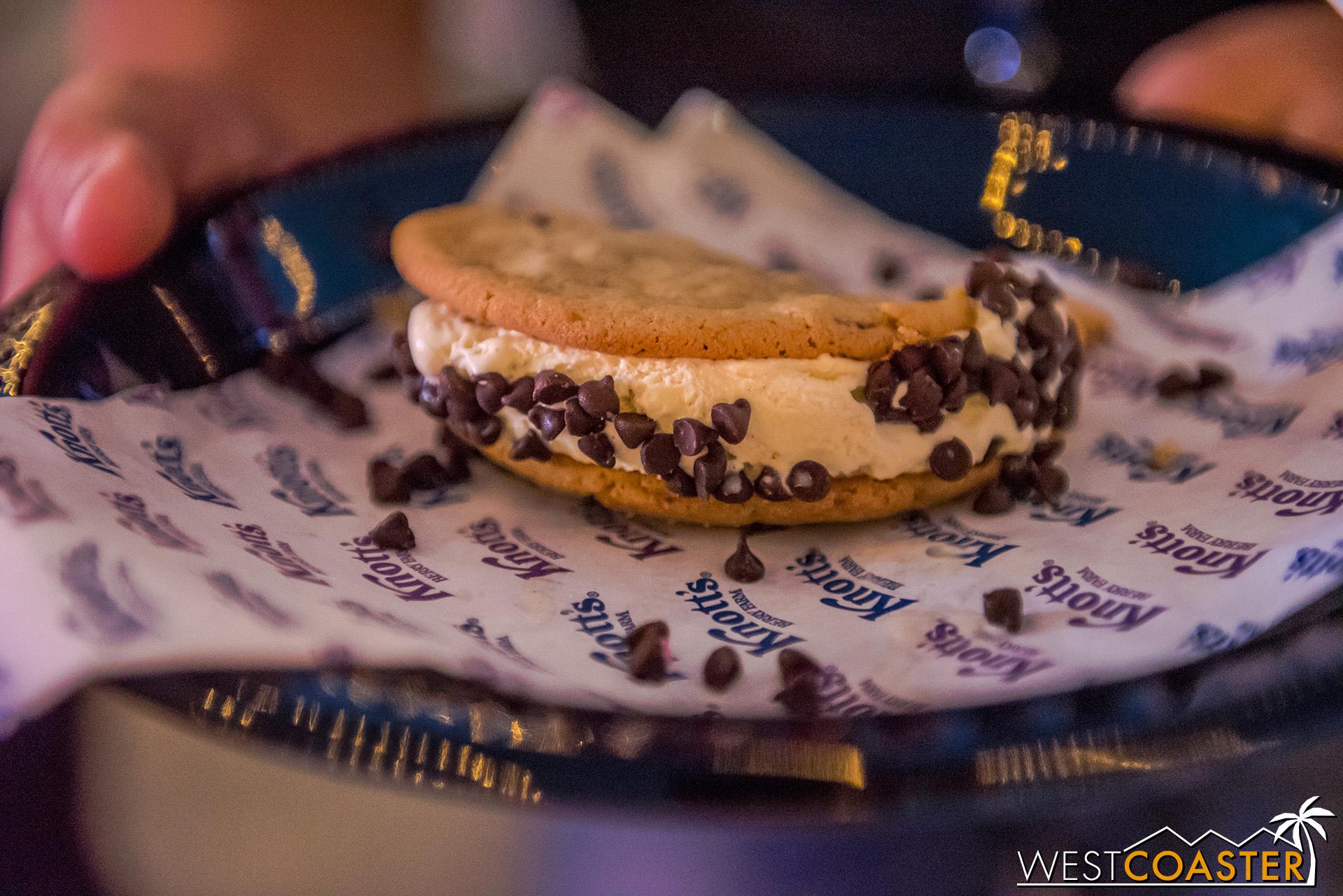 Ice cream cookie sandwich.