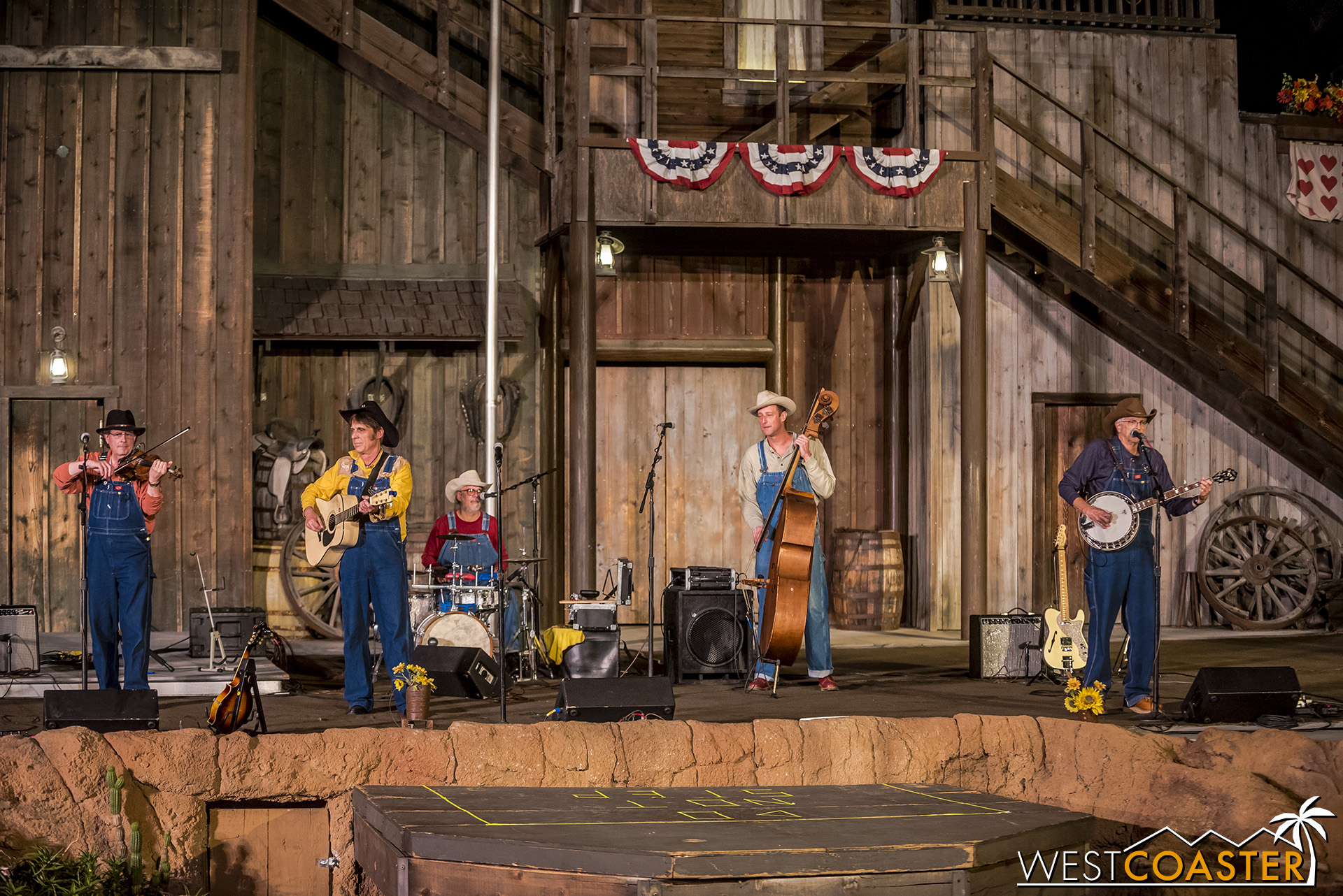 Krazy Kirk and the Hillbillies at the Wagon Camp.