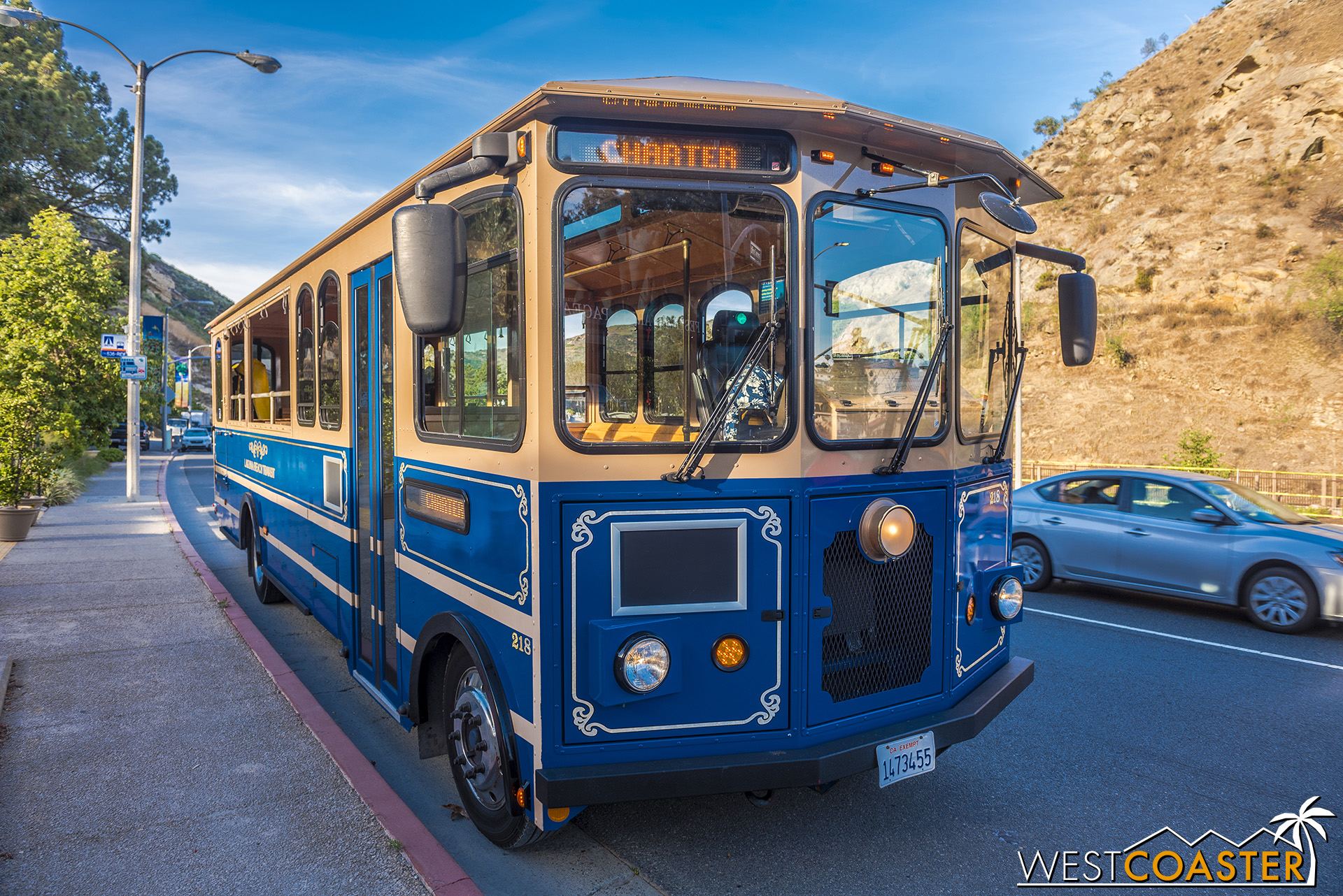 Visitors can take a trolley tram from parking a bit up Laguna Canyon Road down to the venue.