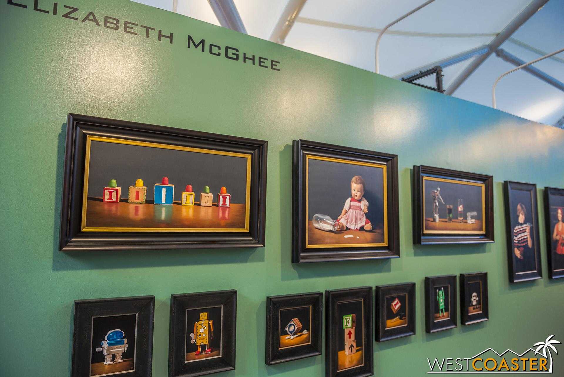 Elizabeth McGee enjoys placing hidden messages—often puns or cheeky jokes—in her art.