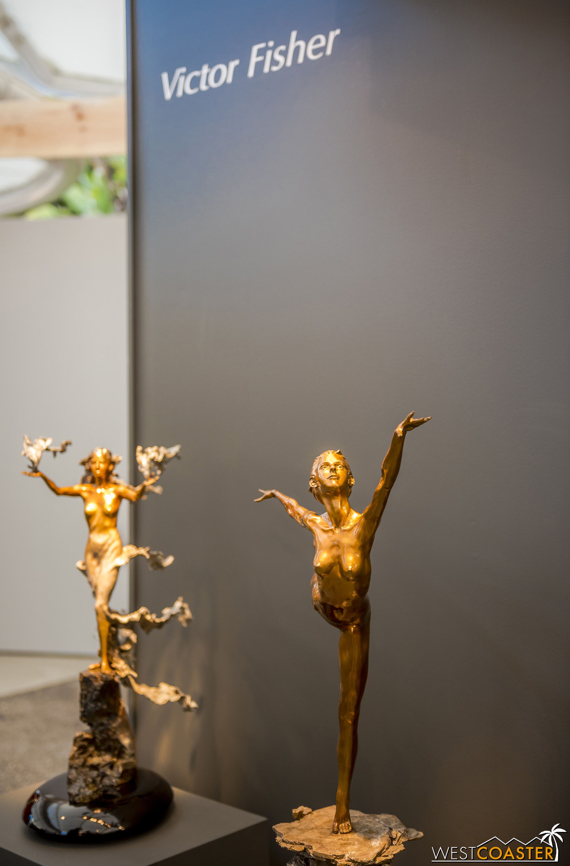 Victor Fisher is a sculptor who uses bronze as his medium.