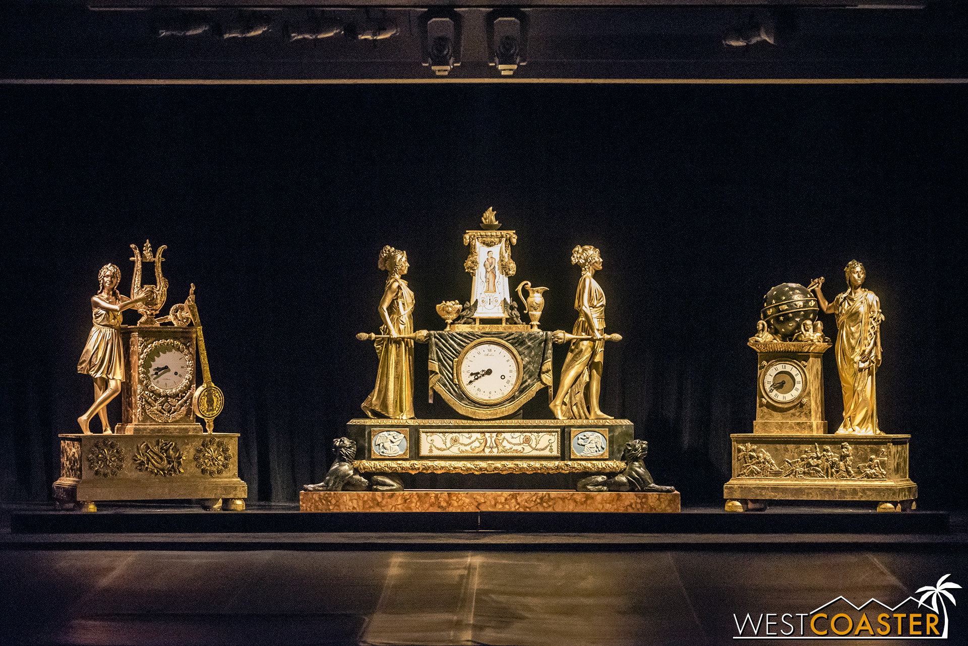 Finally, a collection of French Empire clocks.