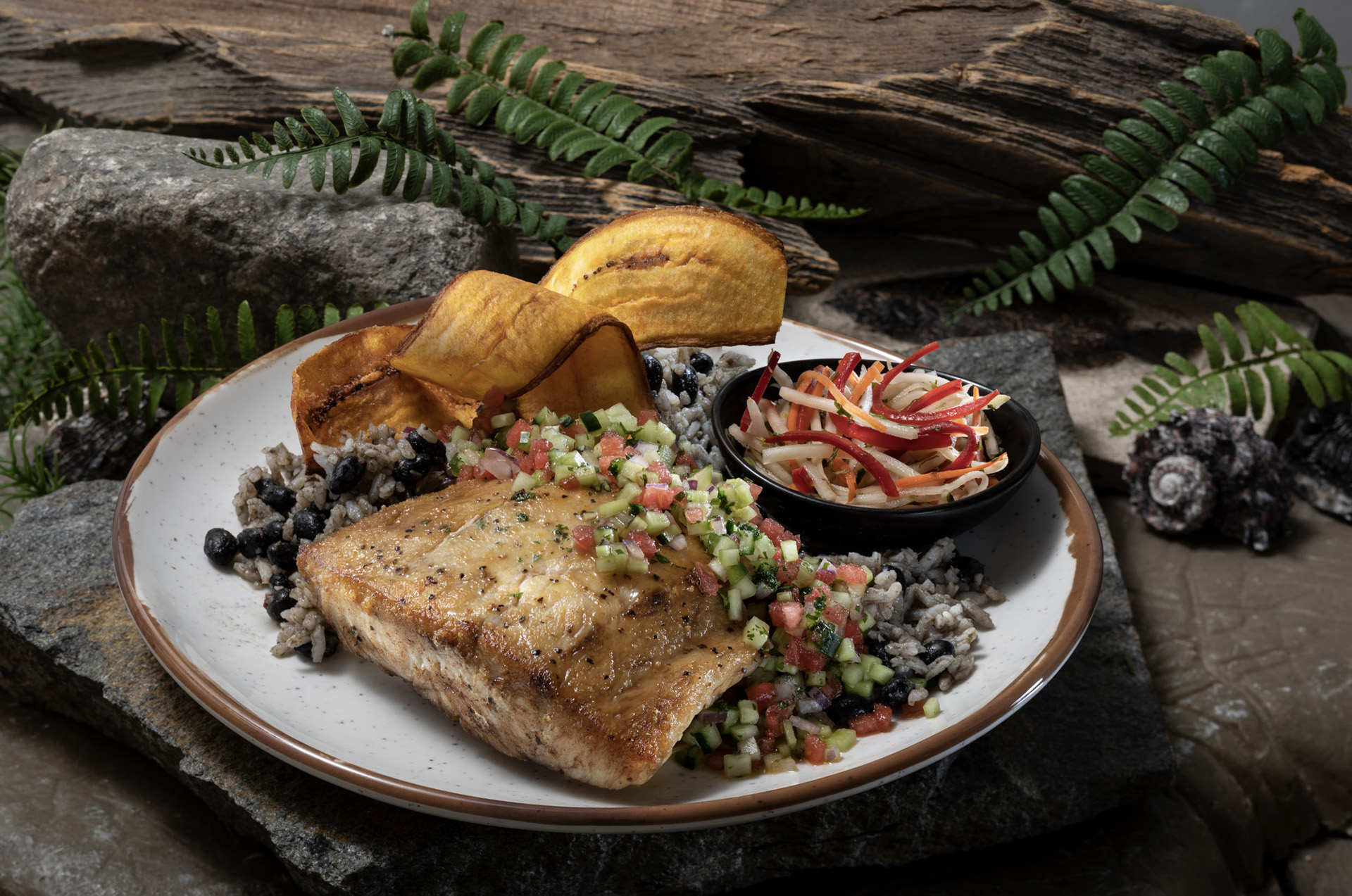 A Roasted Red Snapper will also be on the Jurassic Cafe menu. (Photo courtesy of Universal Studios Hollywood.)
