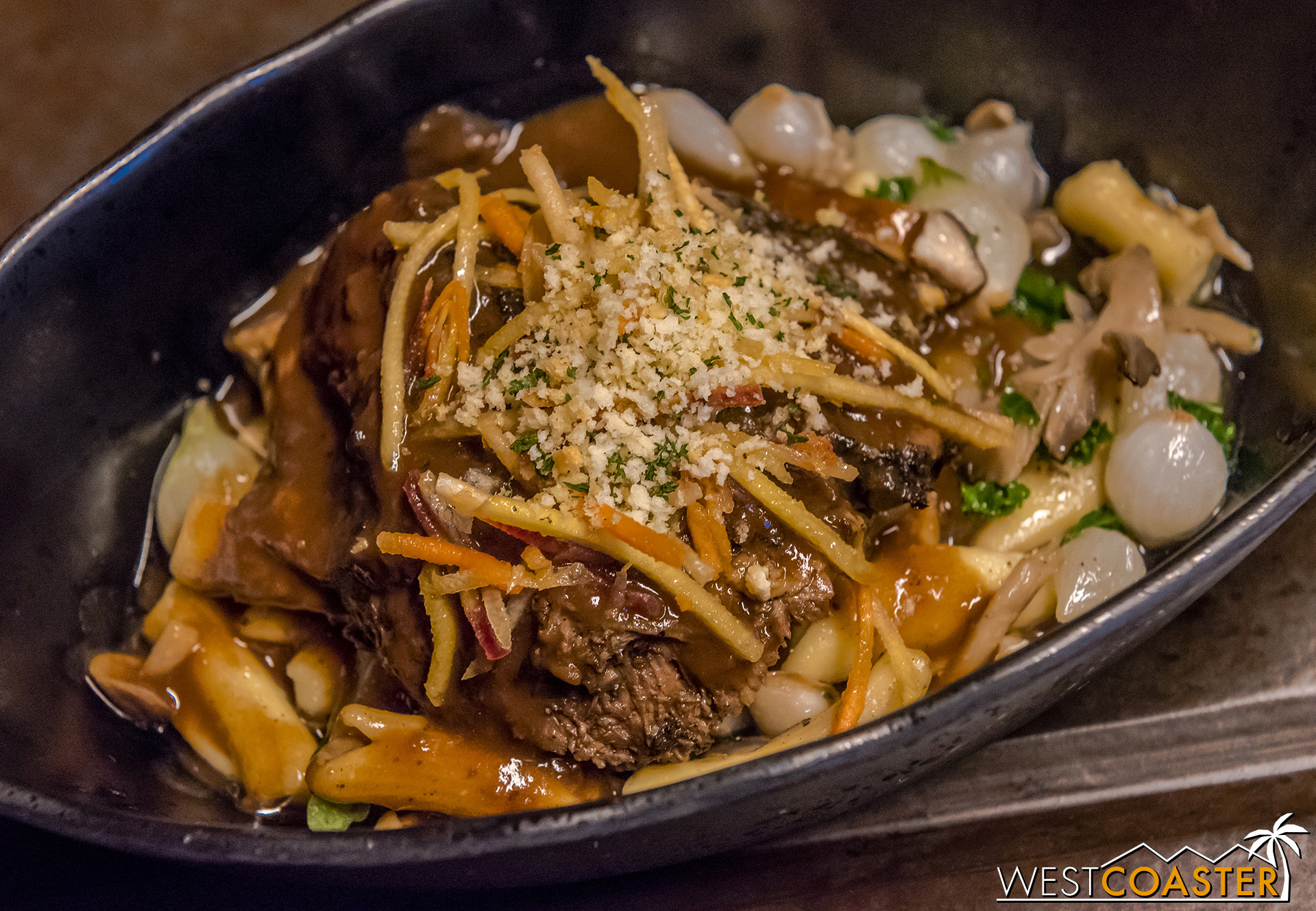 The Braised Shaak Roast is probably the most traditional of items offered here. The meat is plenty tender and very deeply flavorful.