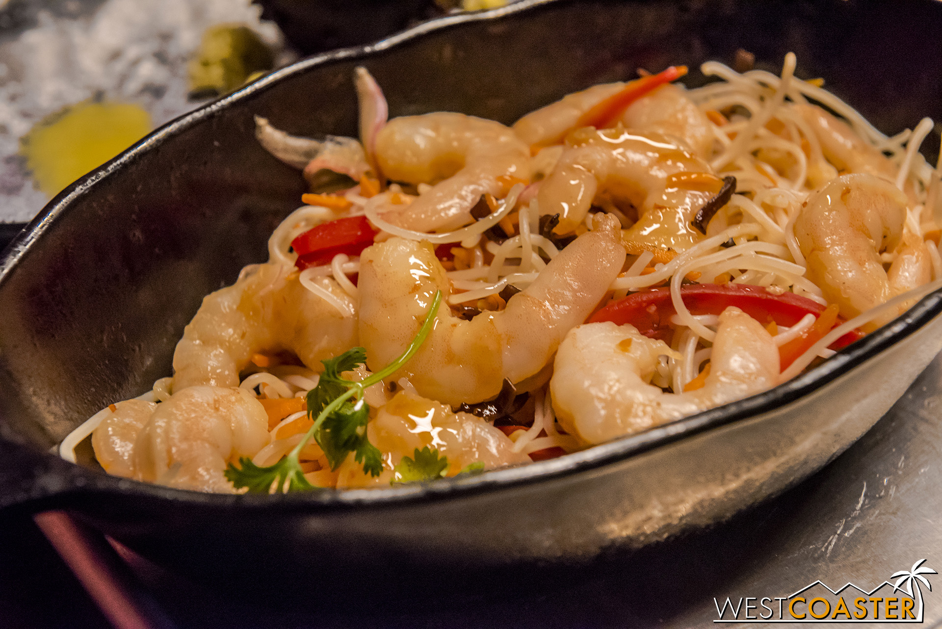 The Yobshrimp Noodle Salad offers a surprising heaping of shrimp and has a great, Vietnamese style tang to it.