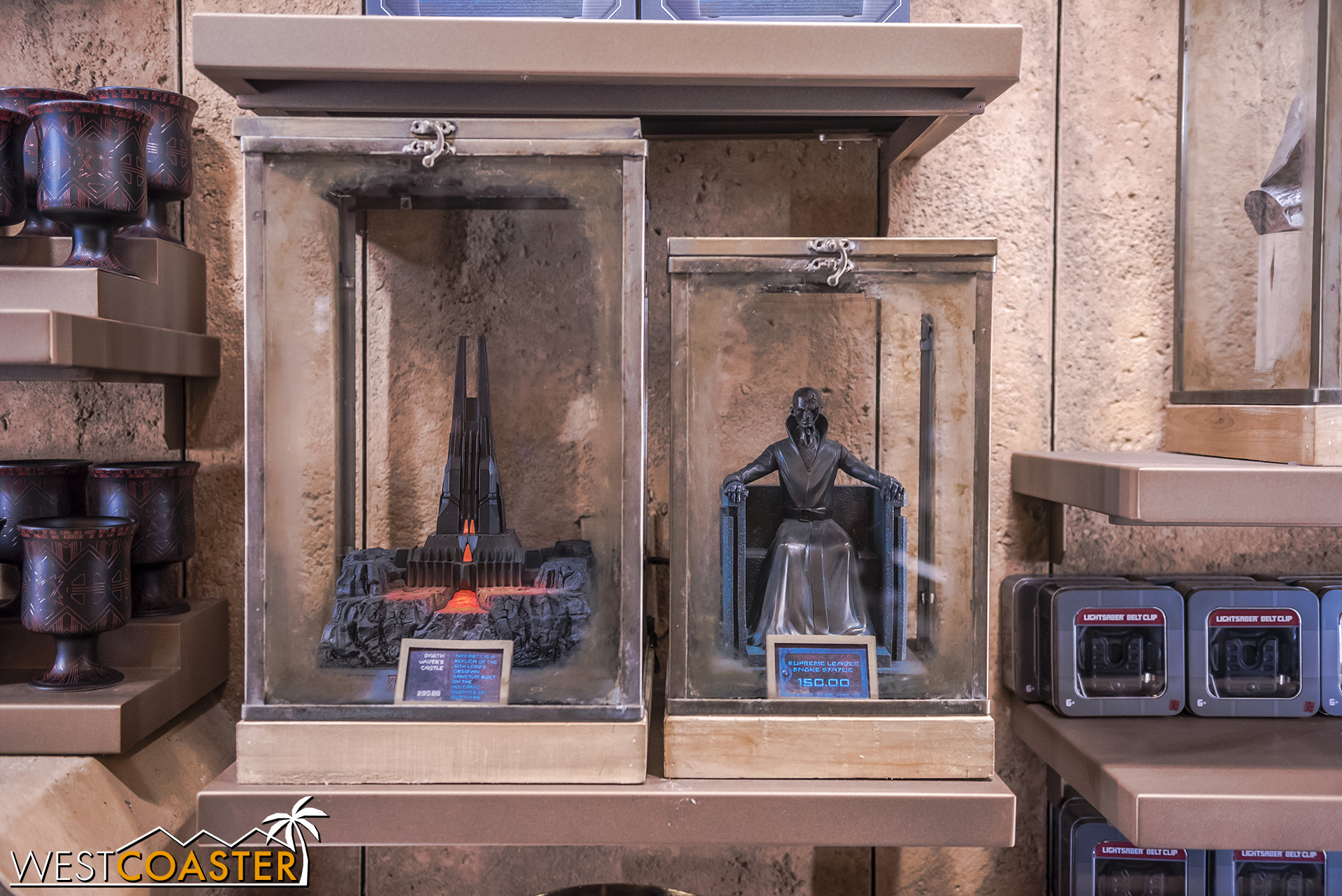 The Sith memorabilia is pricey but cool.