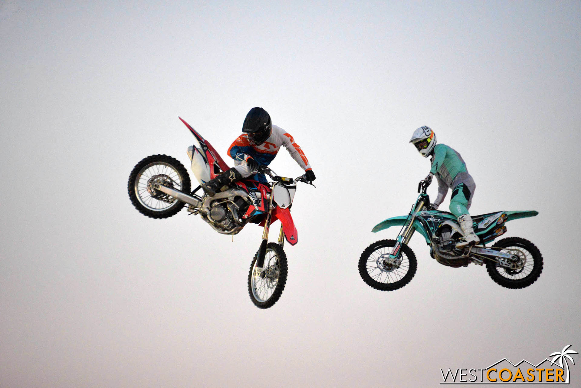 No problem for the incredible athletes performing with the Nitro Circus!