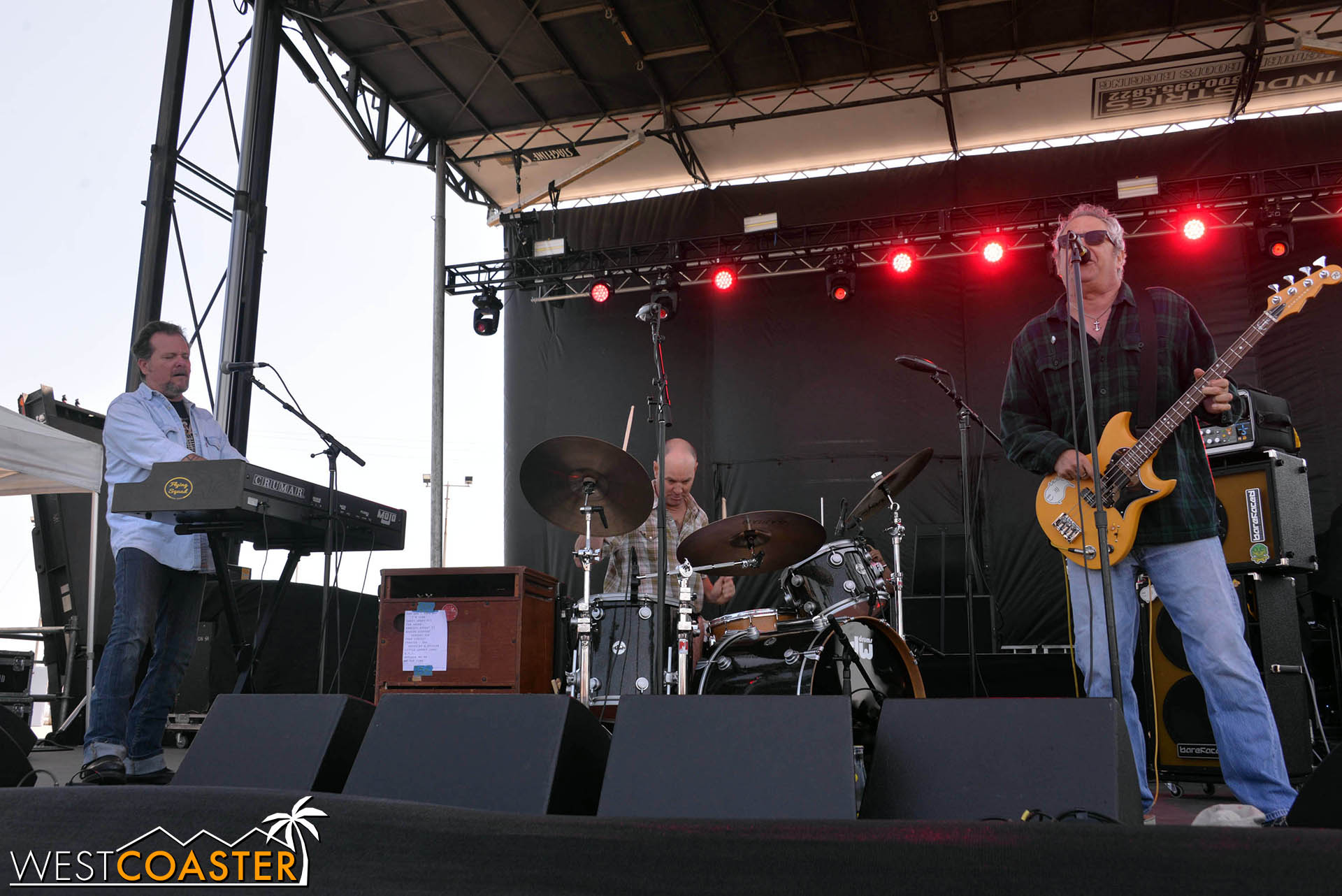 Mike Watt performing at GnarlyTown Festival.