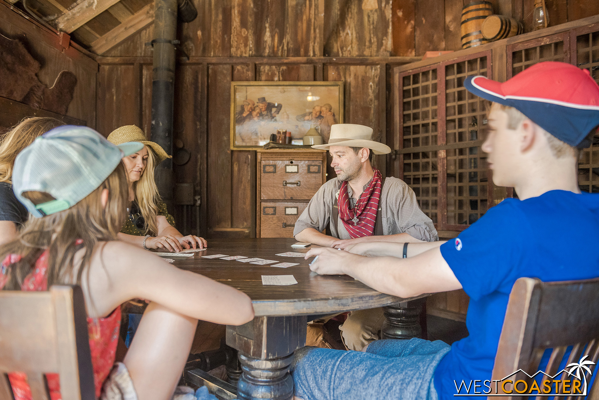 As is the Sheriff's Office, where guests frequently play cards with the law.