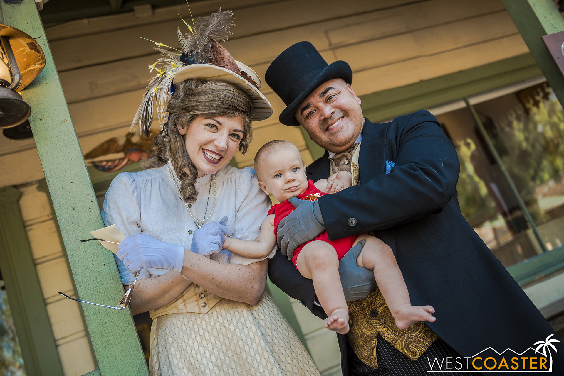 Mayor Horton Parnell and his lovely wife, Pearl, pose for a photo.  Even though this is not an election year, the couple can't get an early enough start kissing babies and politicking!