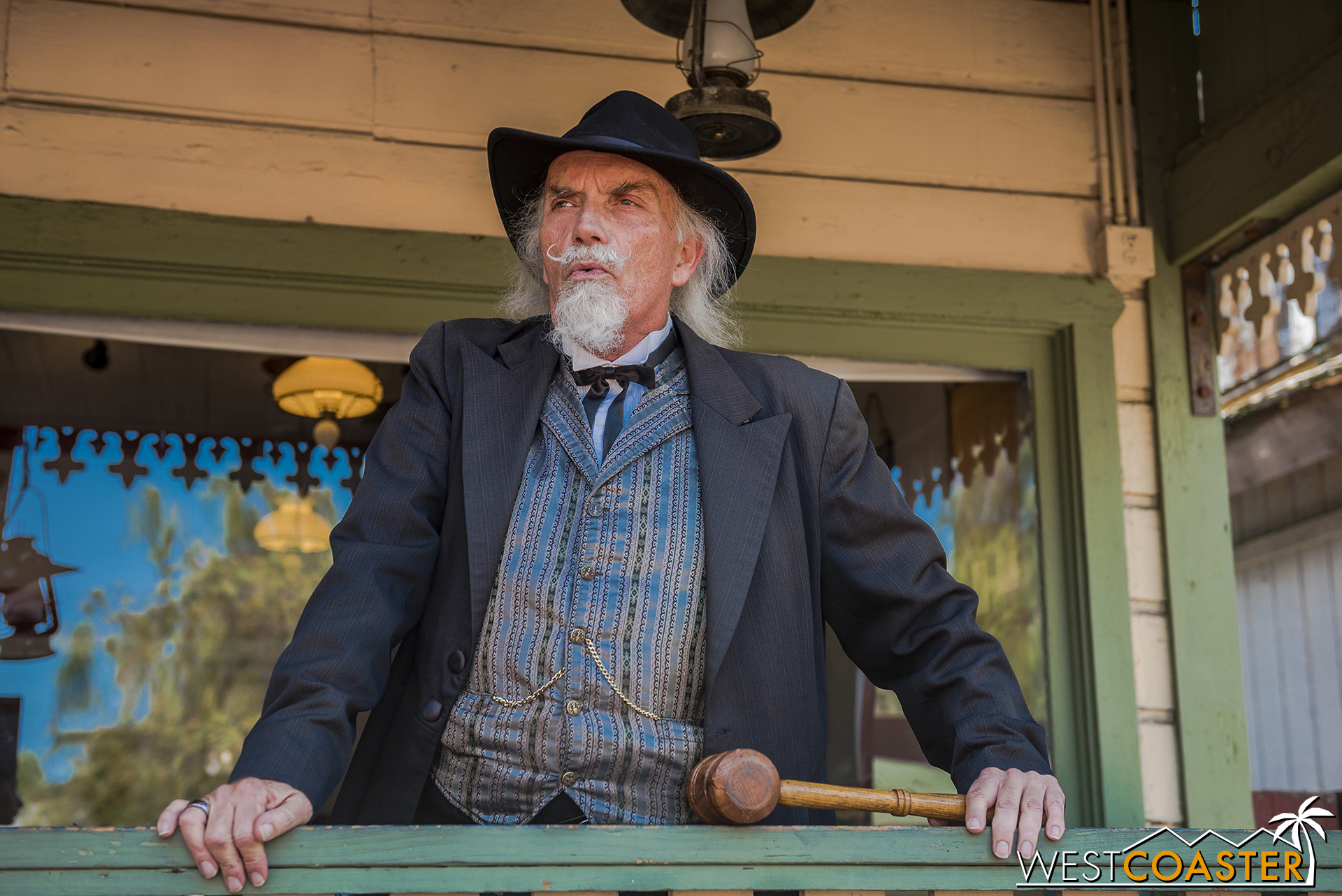 Judge Roy Bean keeps the order in town.  He's always watching.
