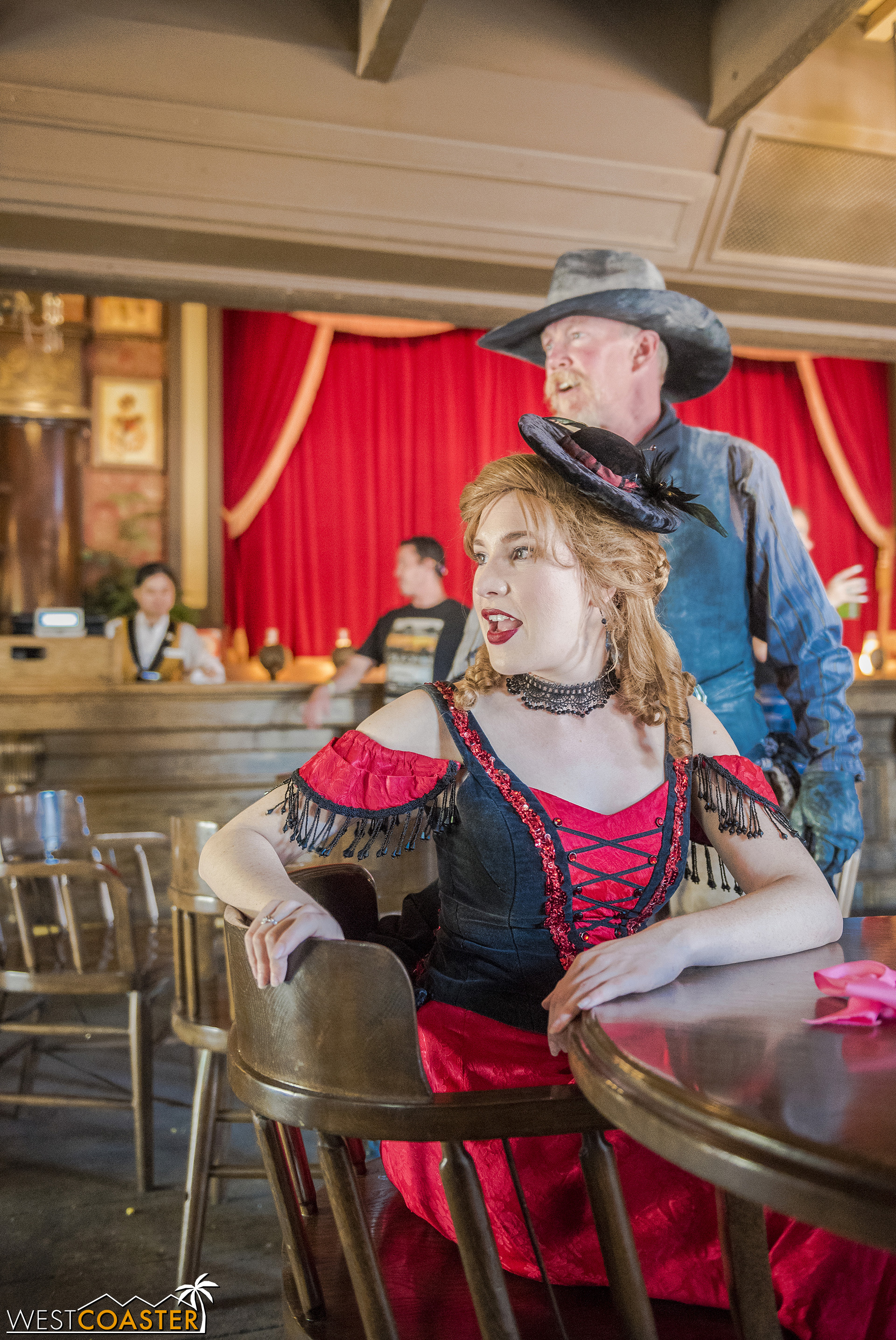 Violet Lee is back too, but rather than help at Goldie's Place like she was last year, Violet has taken over the Calico Saloon (and in fact, the Saloon show has migrated to the Bird Cage Theatre this summer).